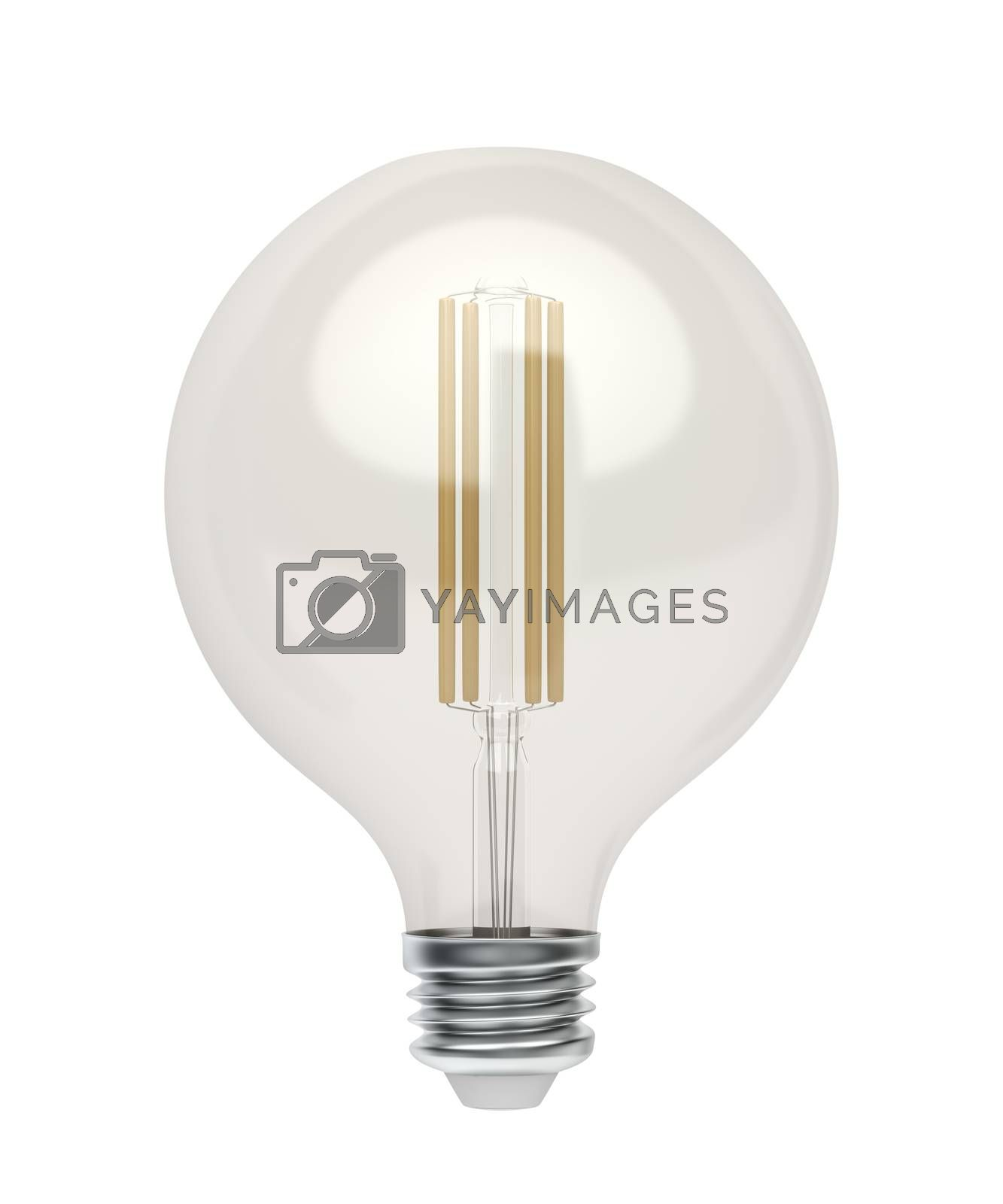 Decorative LED bulb isolated on white background