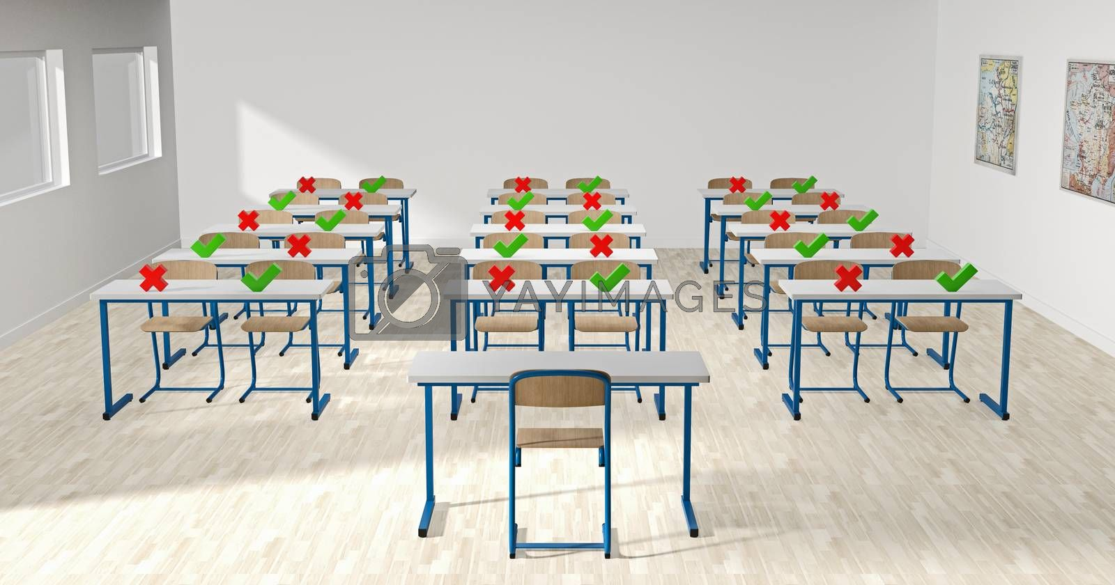 back to school with coronavirus - classroom by Fox_Dsign