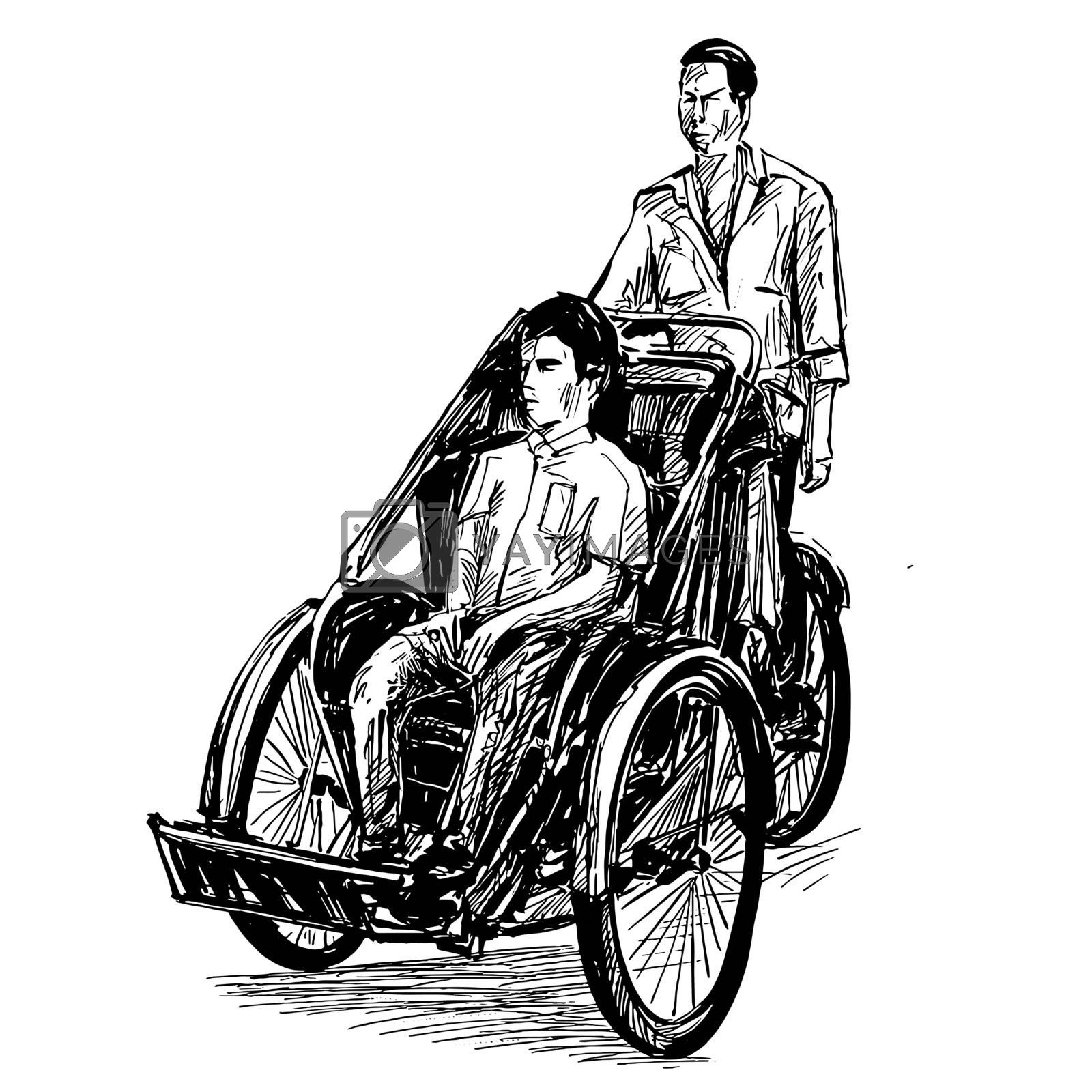 Drawing of the tricycle