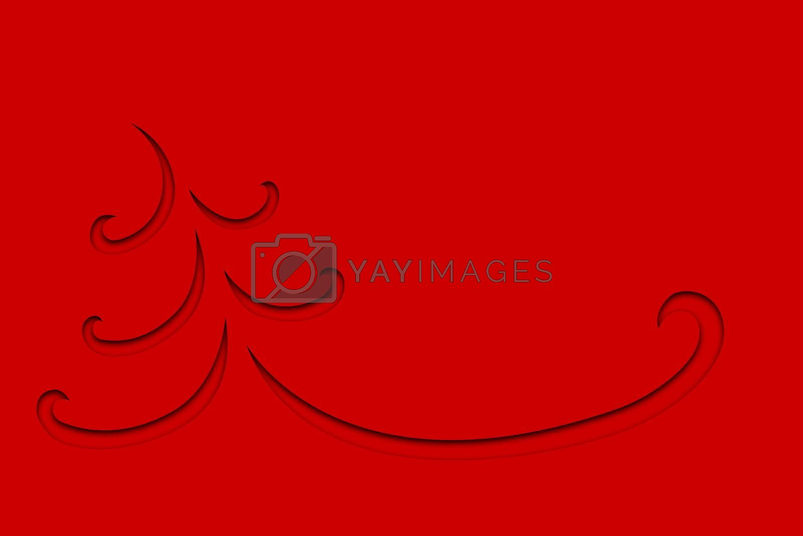Christmas Trees abstract designs in red