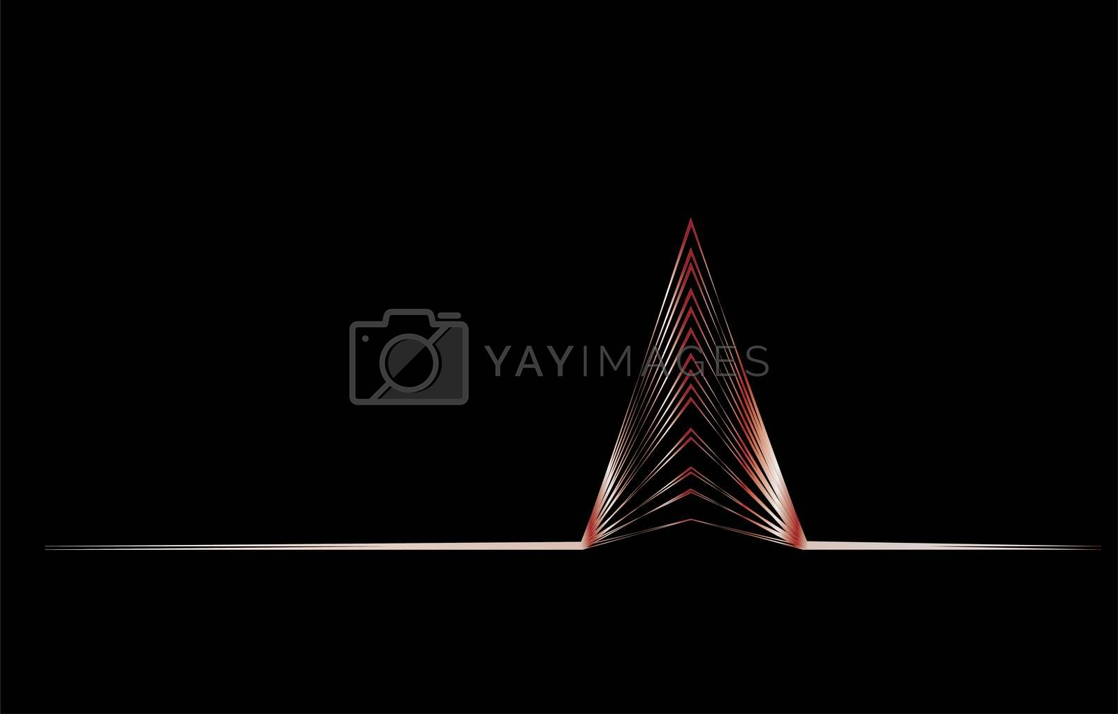 christmas card abstract graphic design on black background in silver
