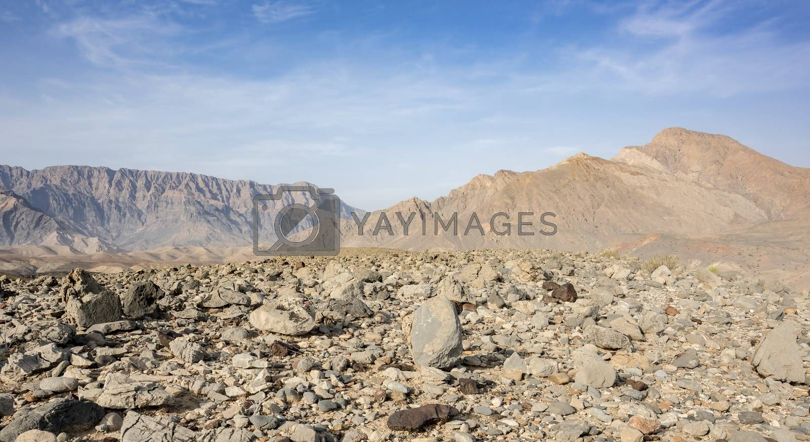 Rocky mountains in the Sultanate of Oman. Taken close by Wadi Dayqah Dam