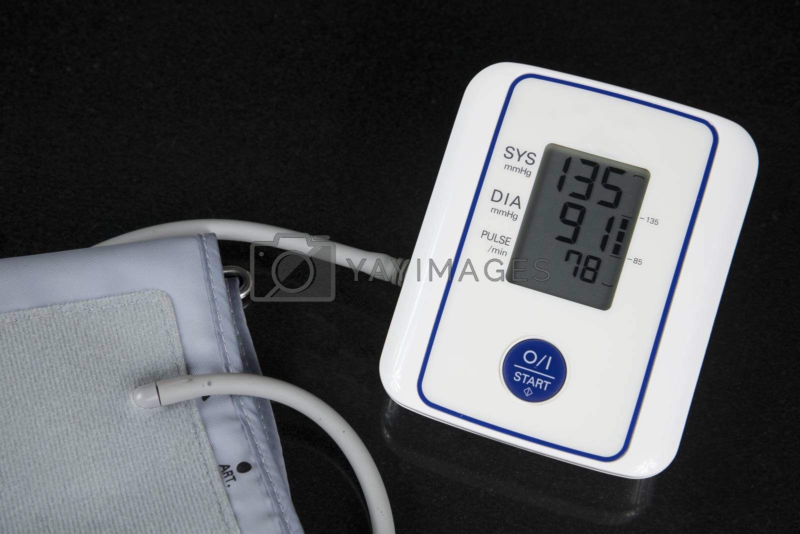 Automatic Blood Pressure Monitor with figues on the screen