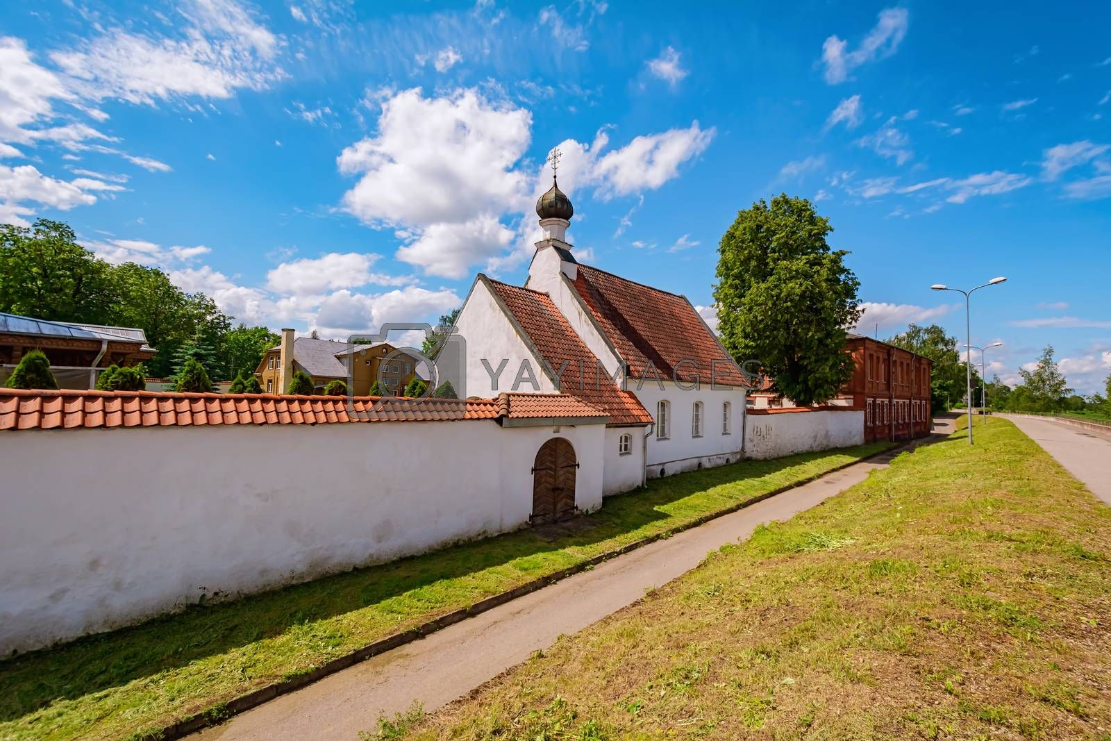 The Saint Nicholas The Miracle-worker's church in The Holy Spirit Mens Monastery, Jekabpils, Latvia