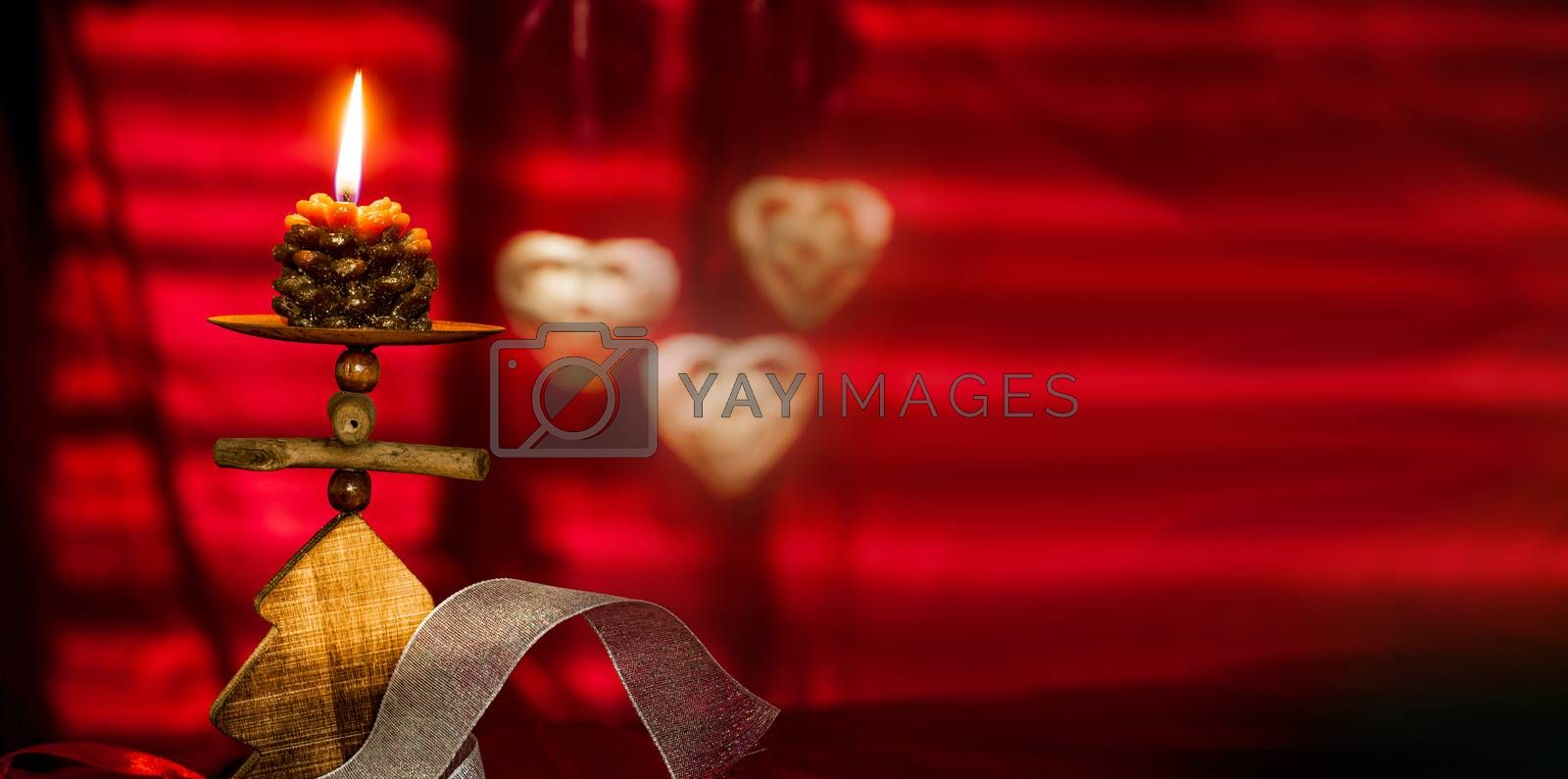 Christmas Cards Background Concepts with Candles