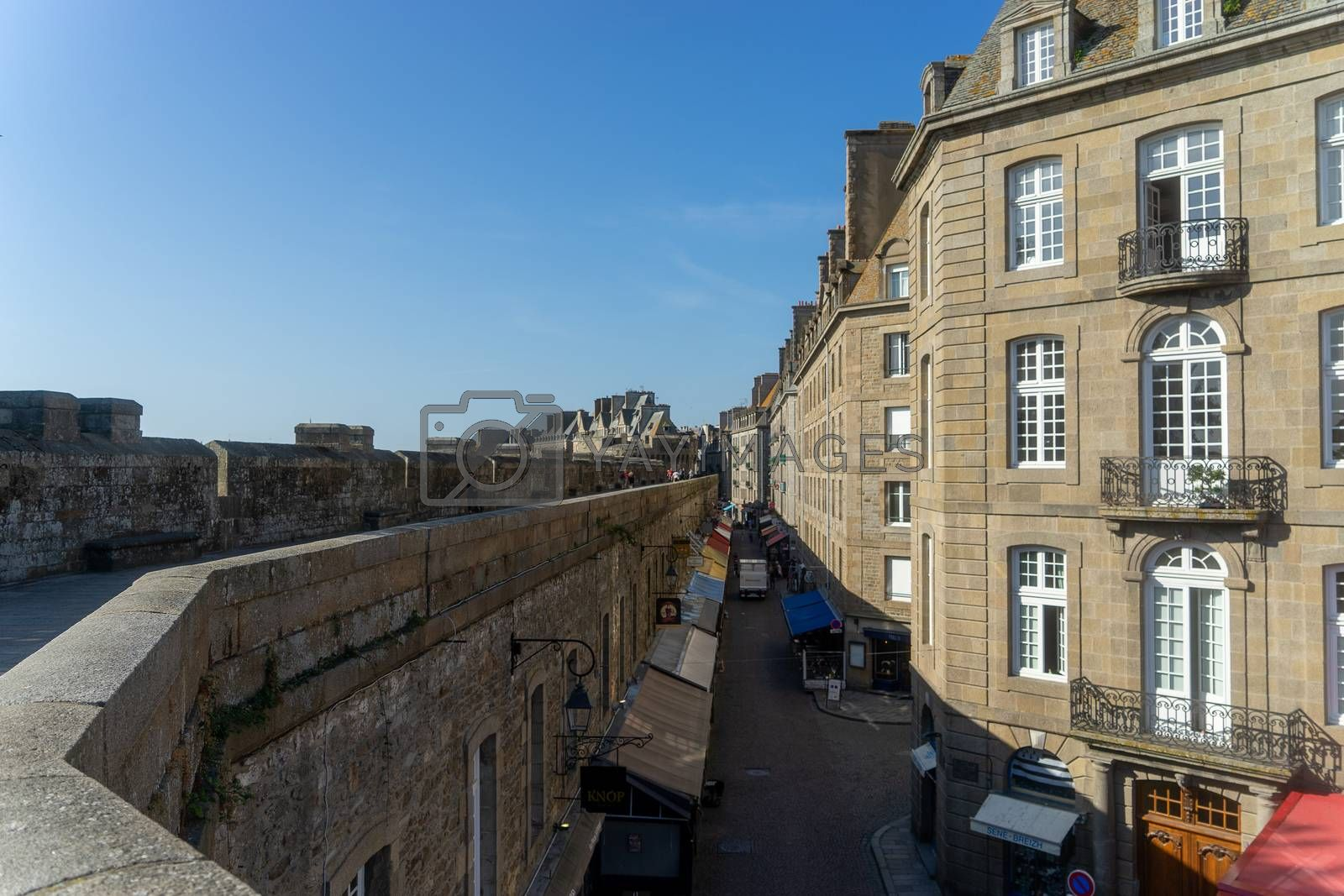 Travel in San Malo architecture streets and castle tourism