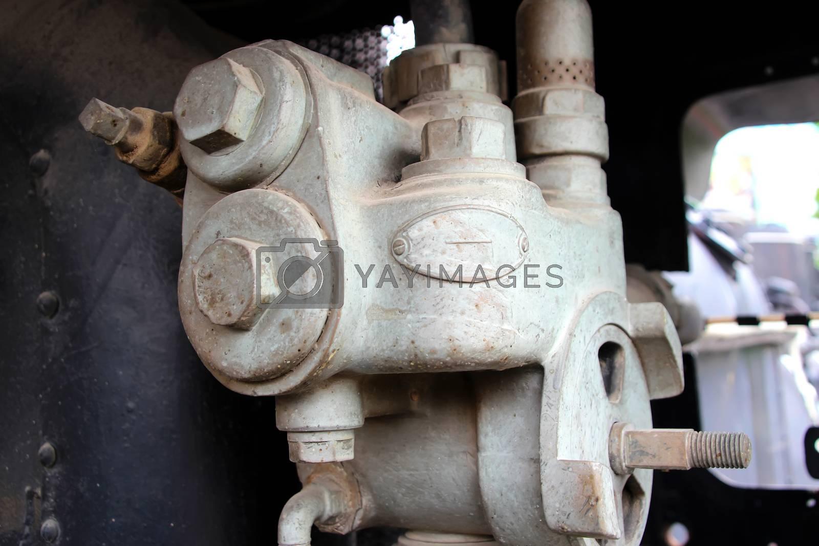 Old steam engine steam pressure regulator, Cambodia