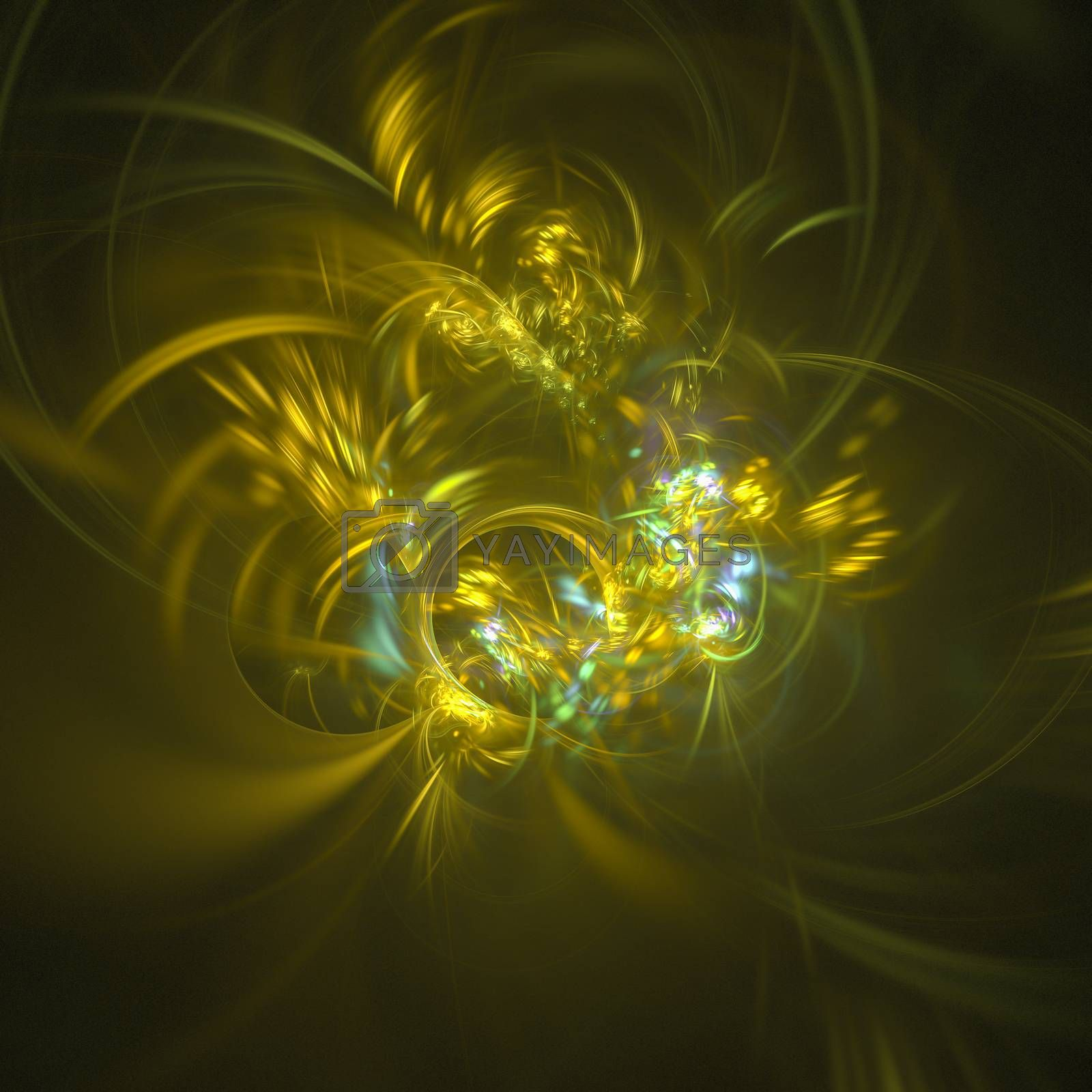 Abstract fractal background. Space and science abstract texture, 3D illustration