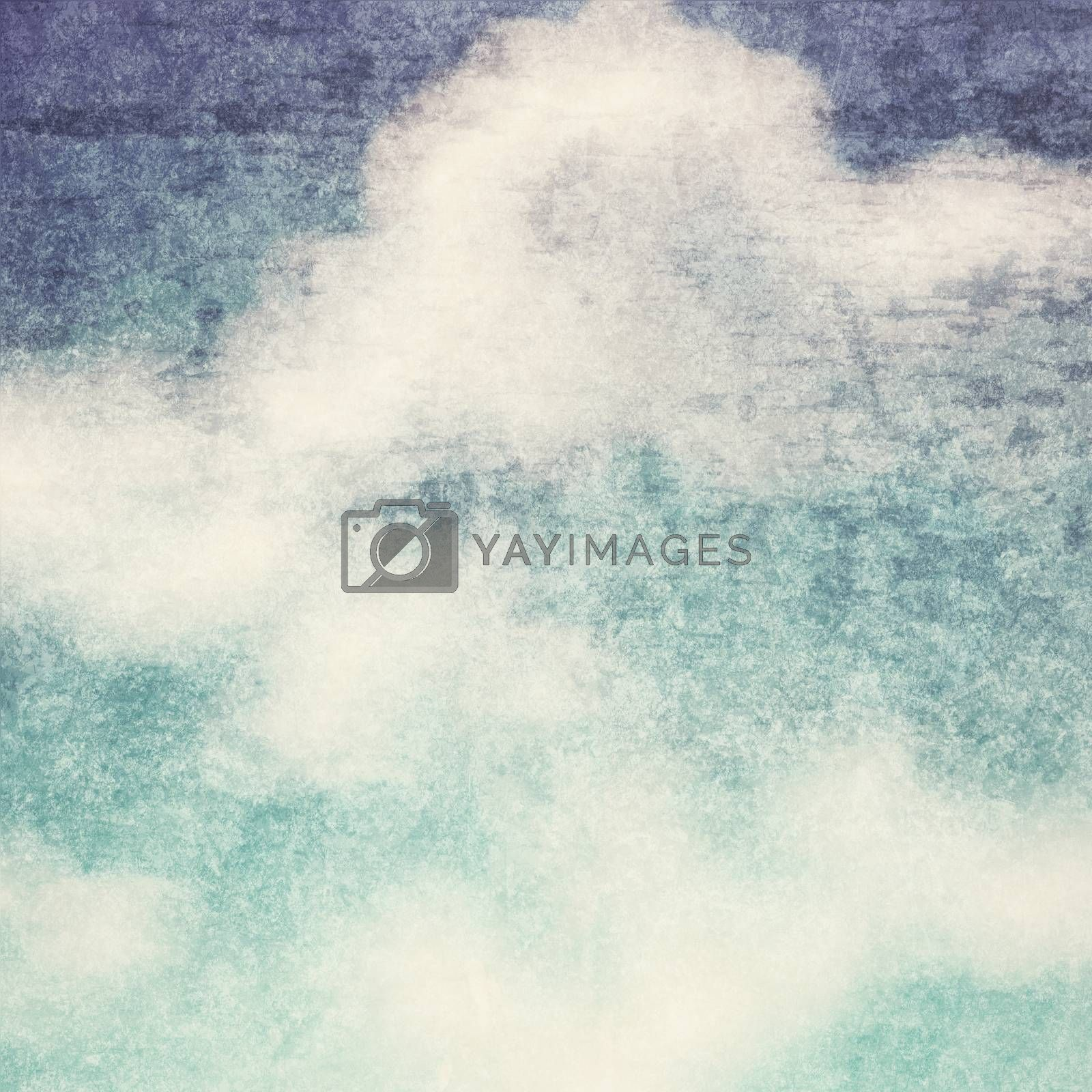 Royalty free image of Vintage background in the blue shade with clouds  by everythingpossible