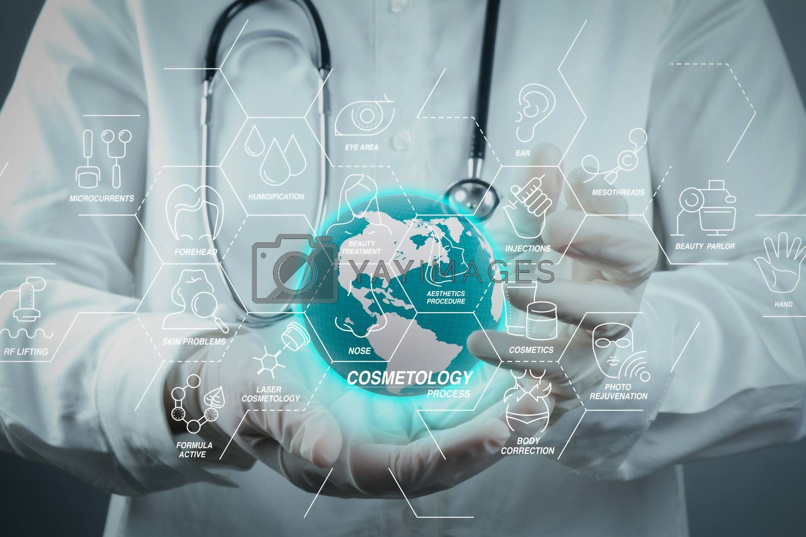 Royalty free image of Medicine doctor working with modern computer  by everythingpossible