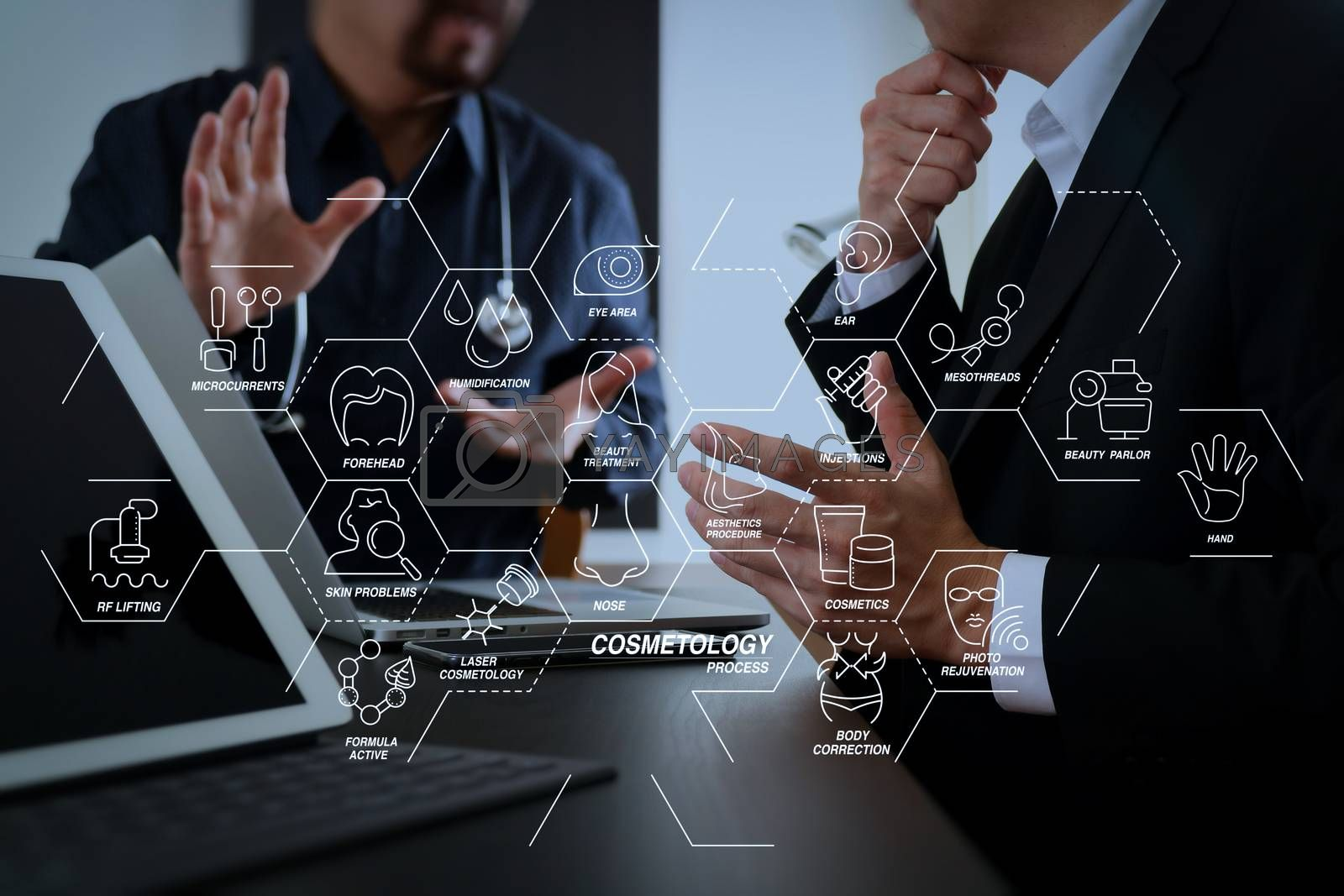 Royalty free image of Medical co working concept,Doctor working with smart phone and d by everythingpossible