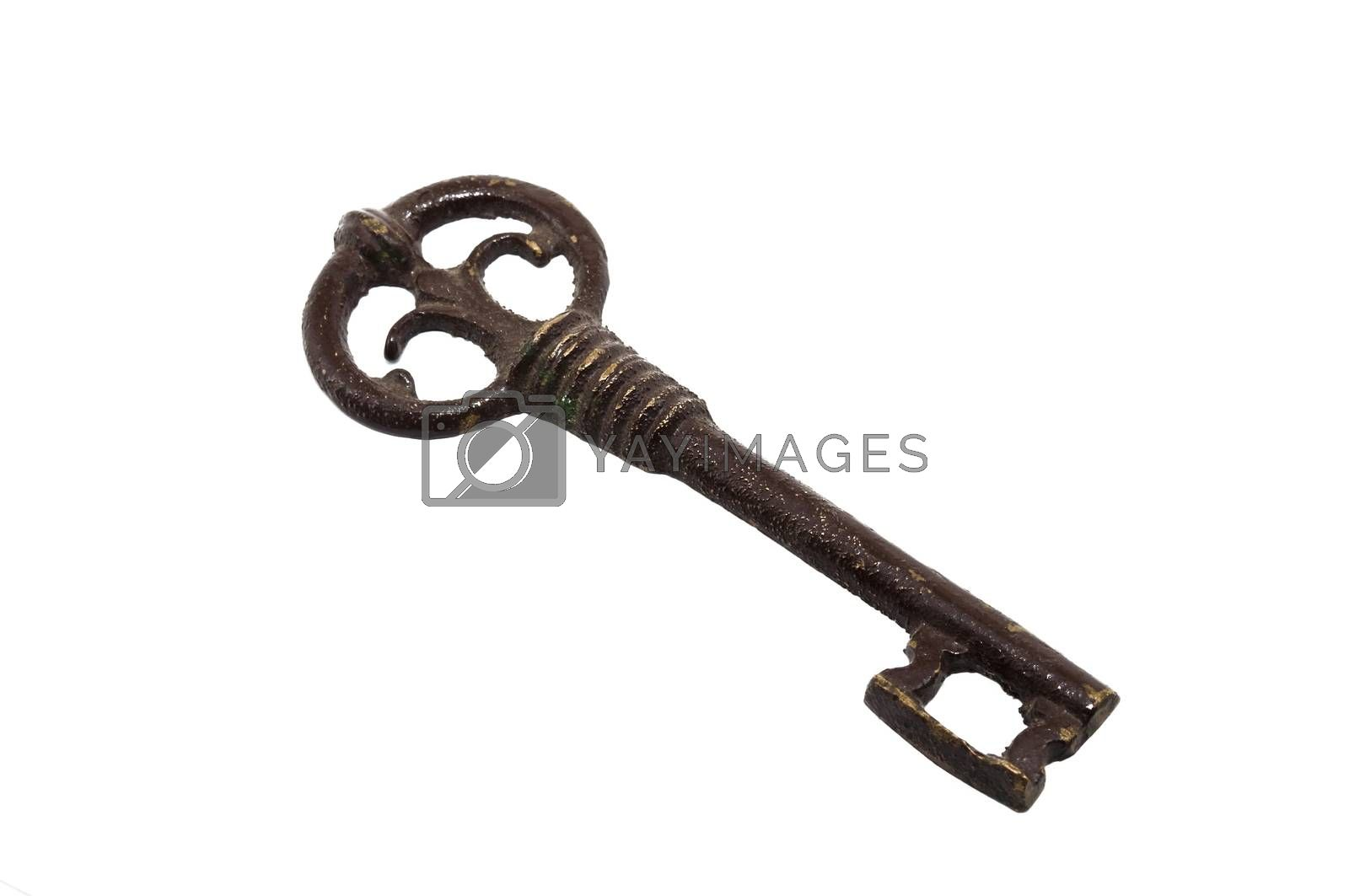iron key isolated on white background
