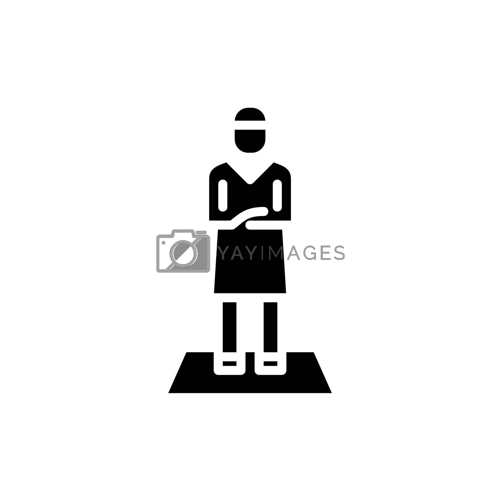 muslim man prayer glyph icon