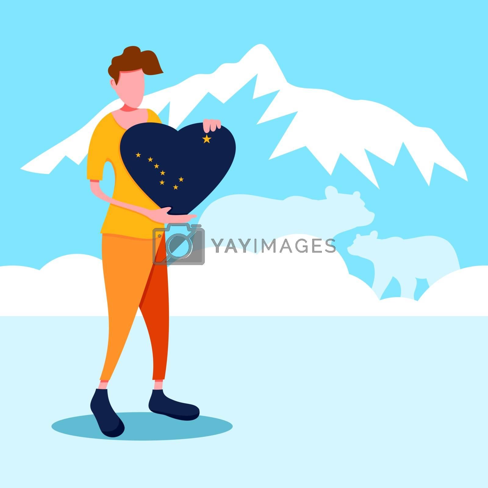 A man holding an alabama love sign