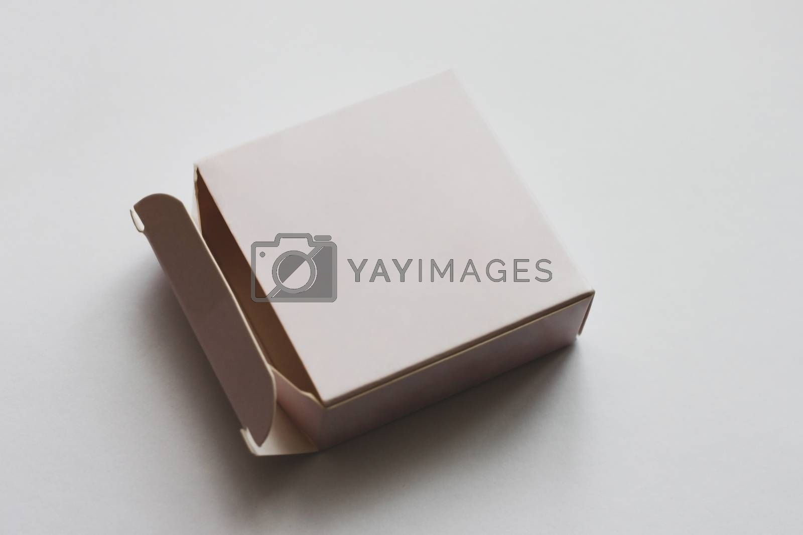 Small pink box mockup. Box Mockup for Product Presentation