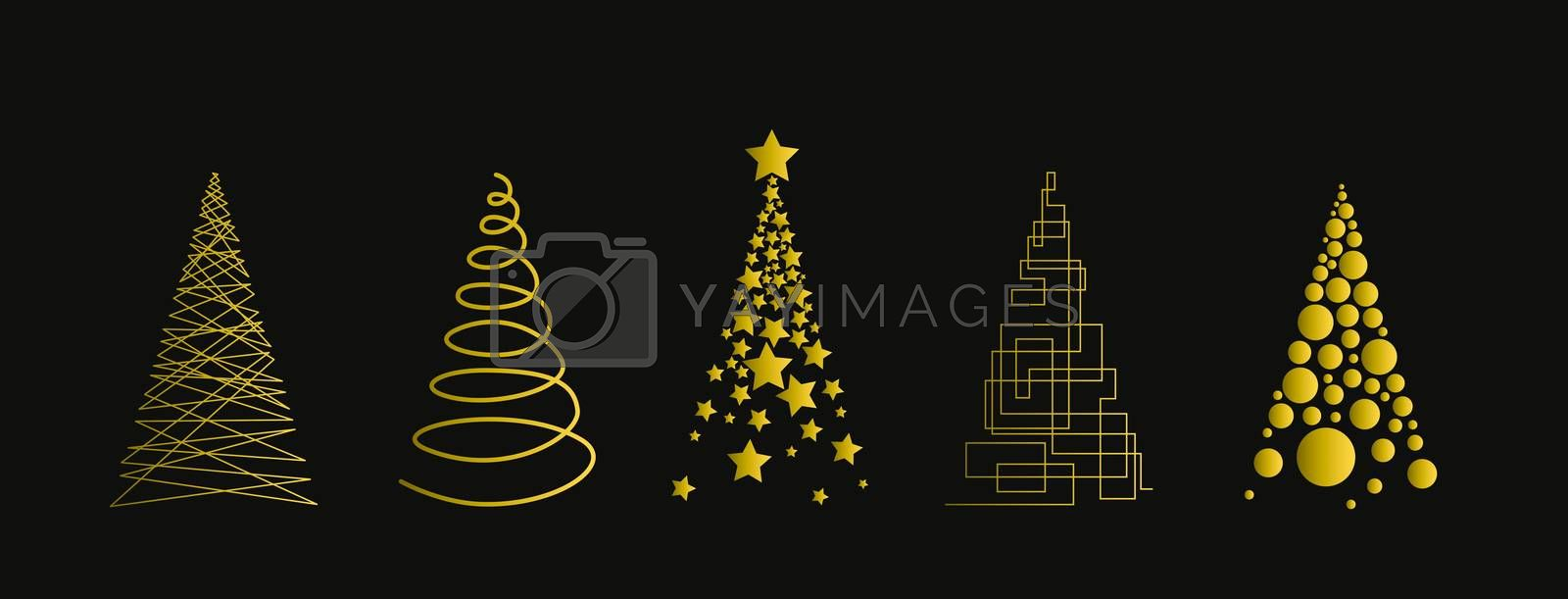 Illustration for christmas cards and web banners and copy space