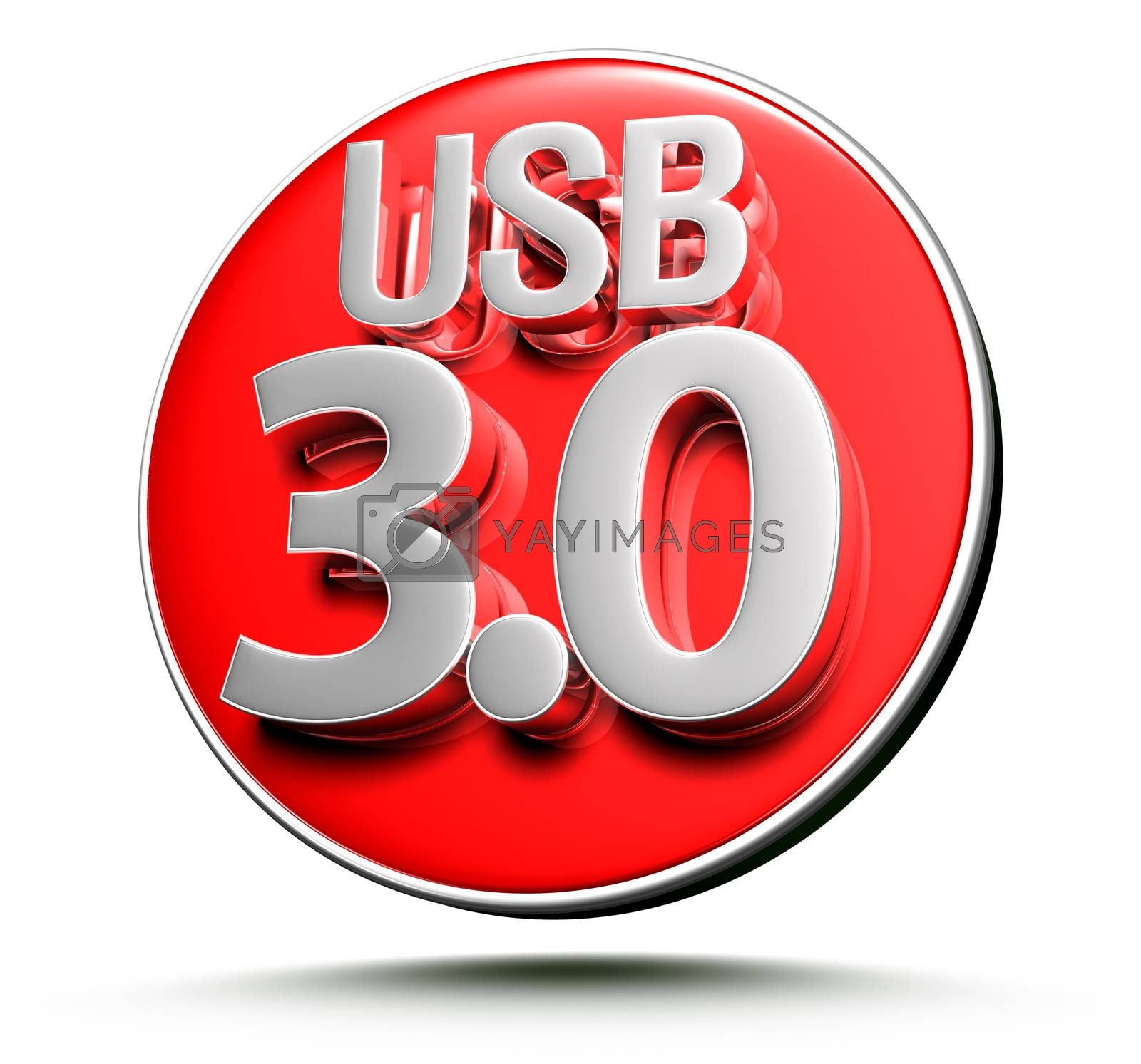 Signs Usb 3.0 3d. by thitimontoyai