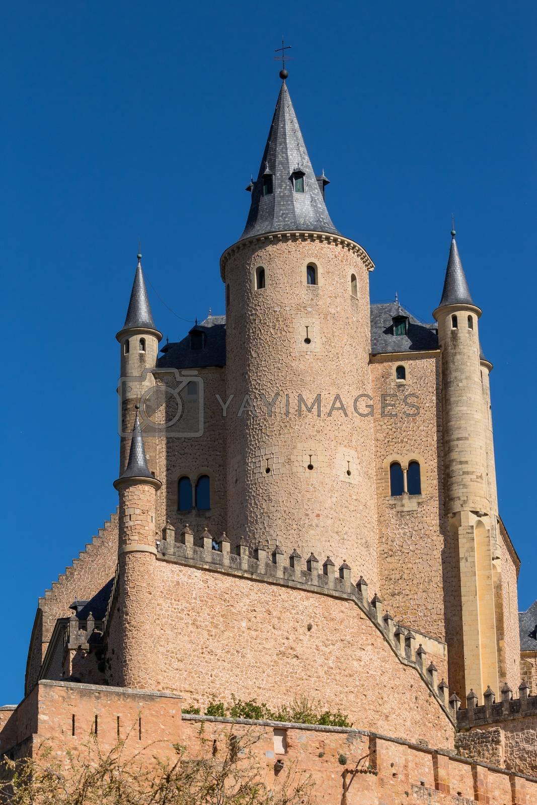 The famous Alcazar castle of Segovia, Castilla y Leon, Spain