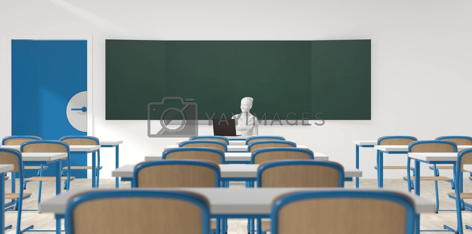 back to school with coronavirus - classroom by Fox_Dsign