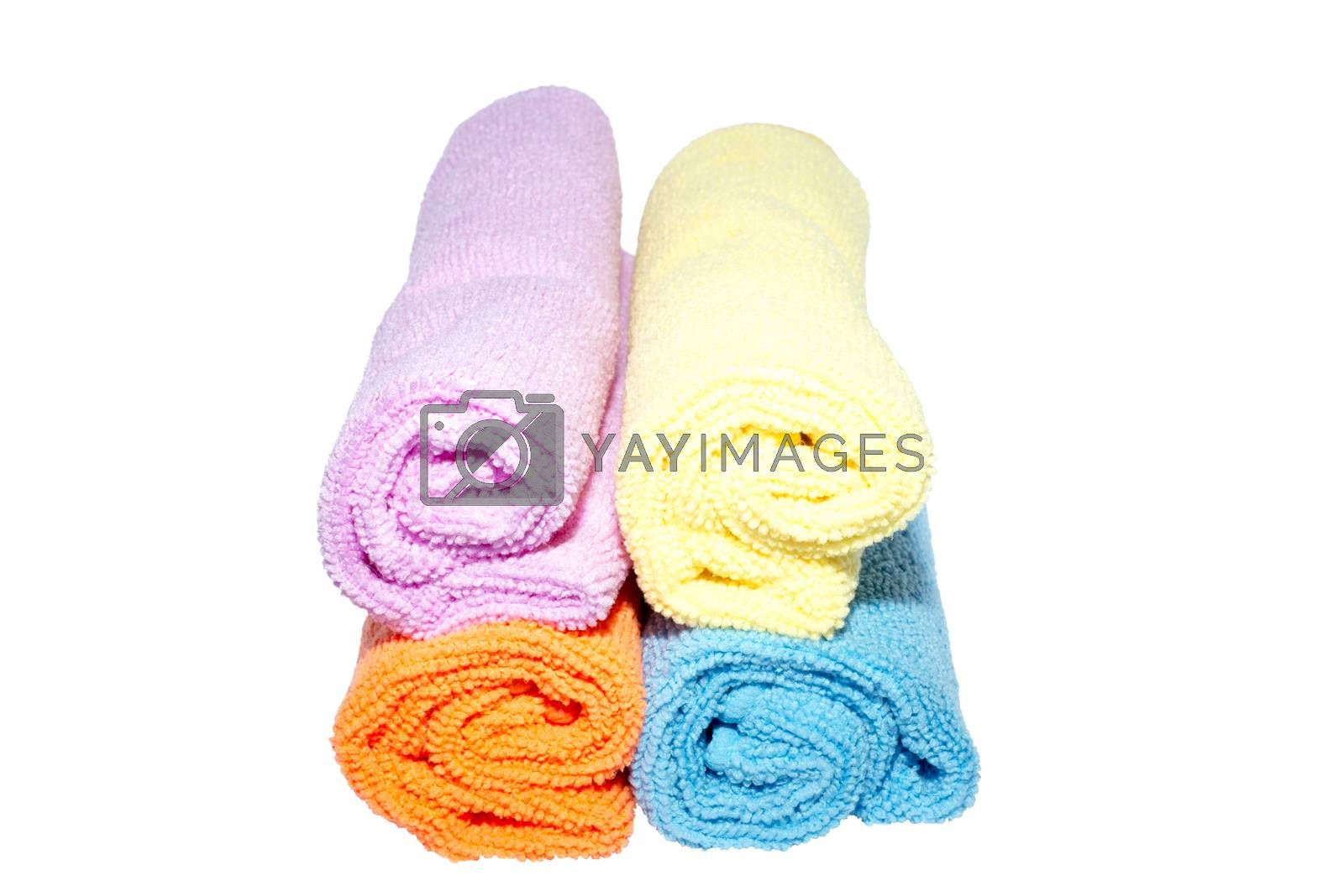 facecloths off various shades with some in rolls