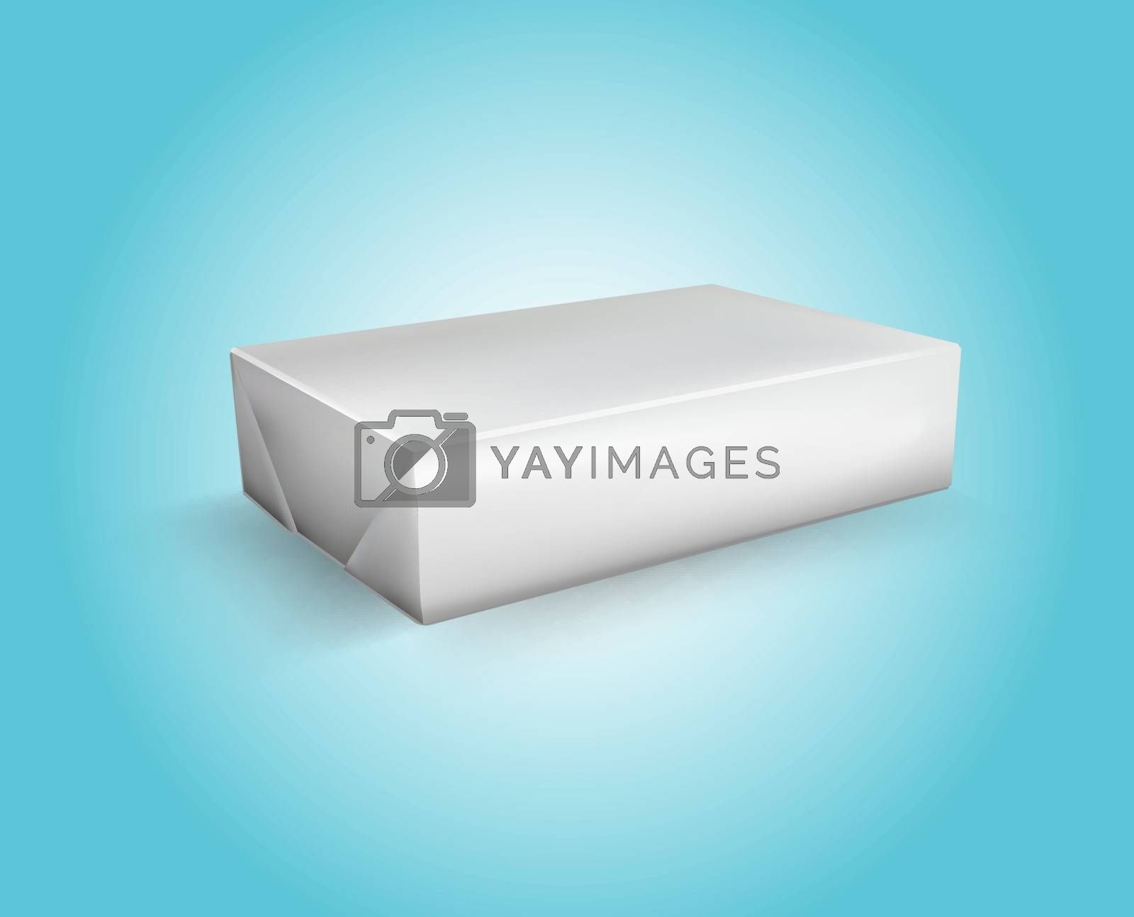 Vector Blank White Foil Food Packaging llustration Isolated Mock Up Template Package Ready For Custom Design