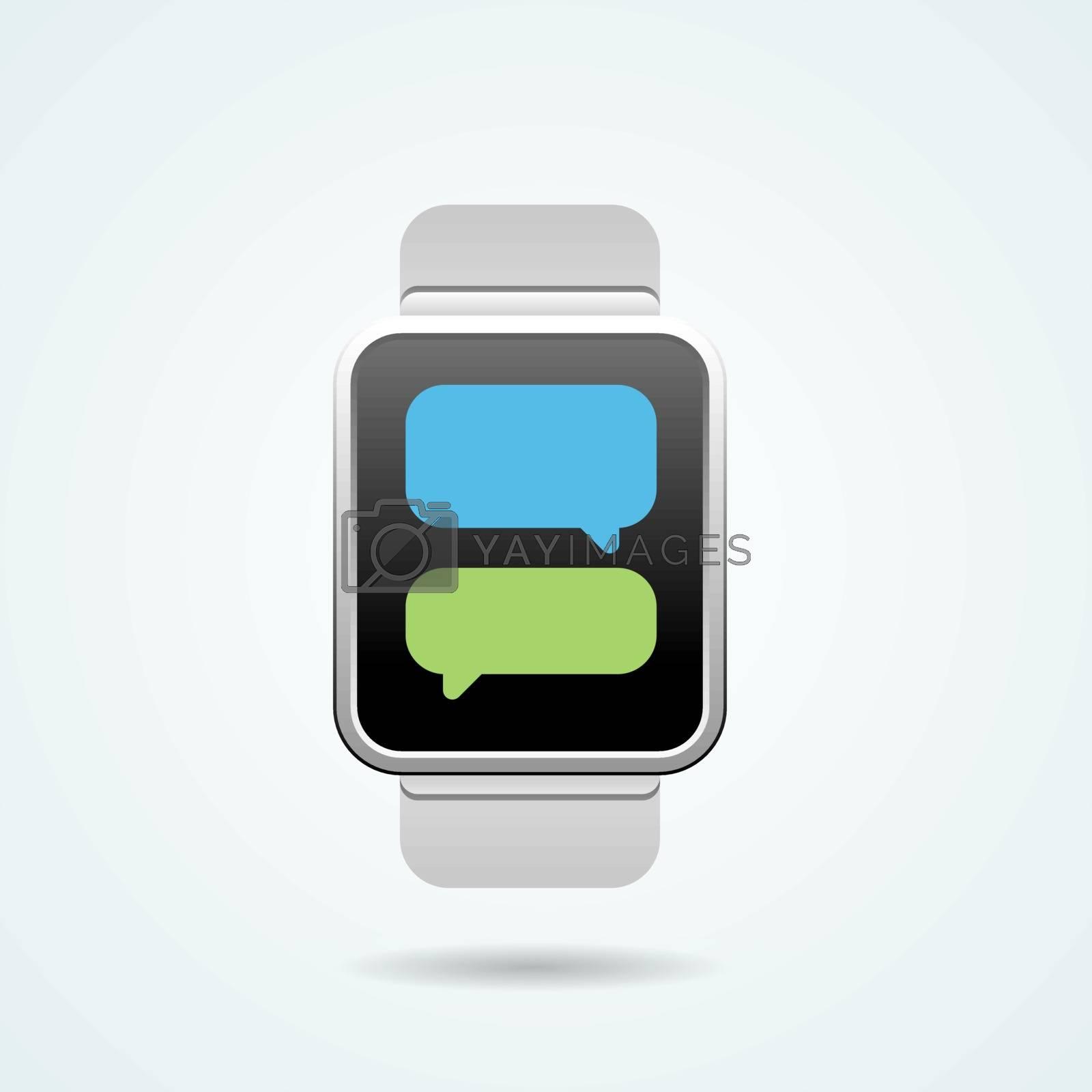 Smart Watch Illustration in Vector