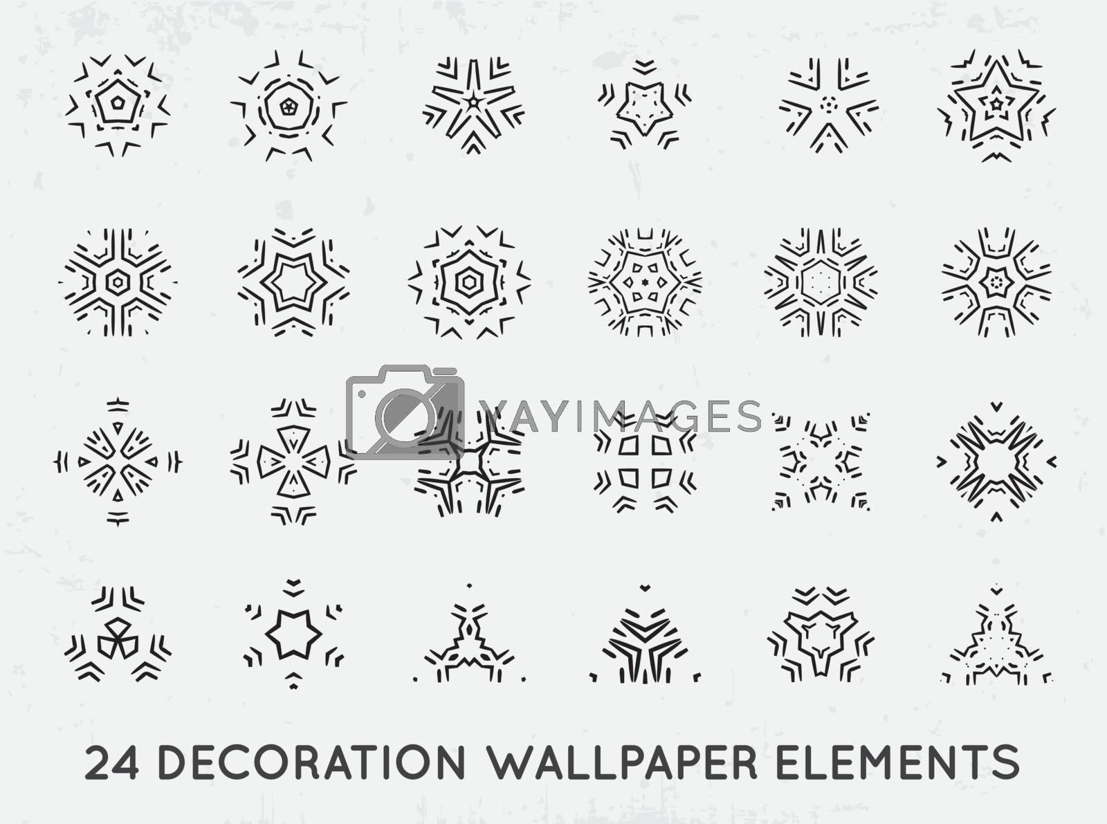 Set of minimal decoration background vintage shapes collection