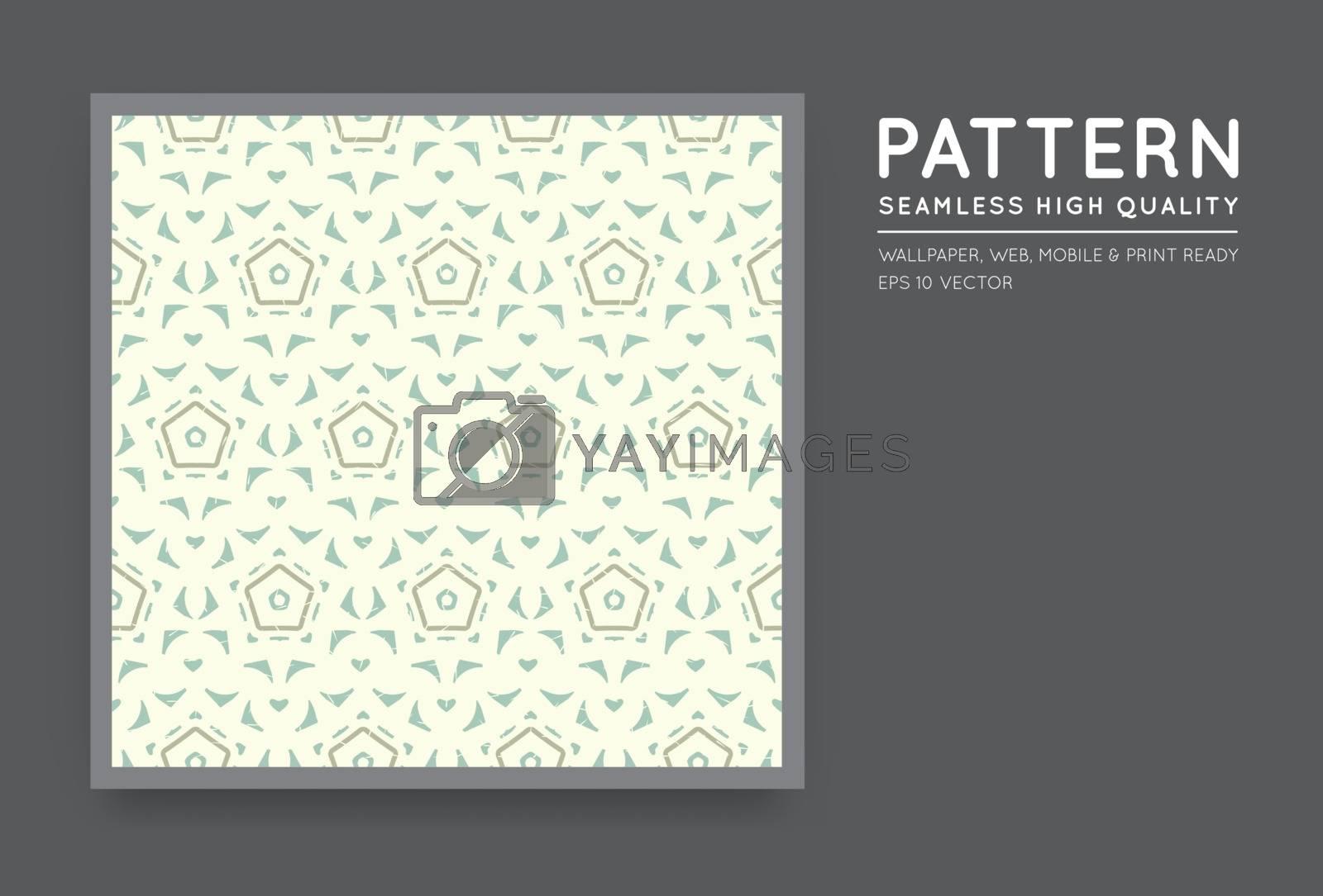 Seamless Vector Arabian Style Abstract Pattern