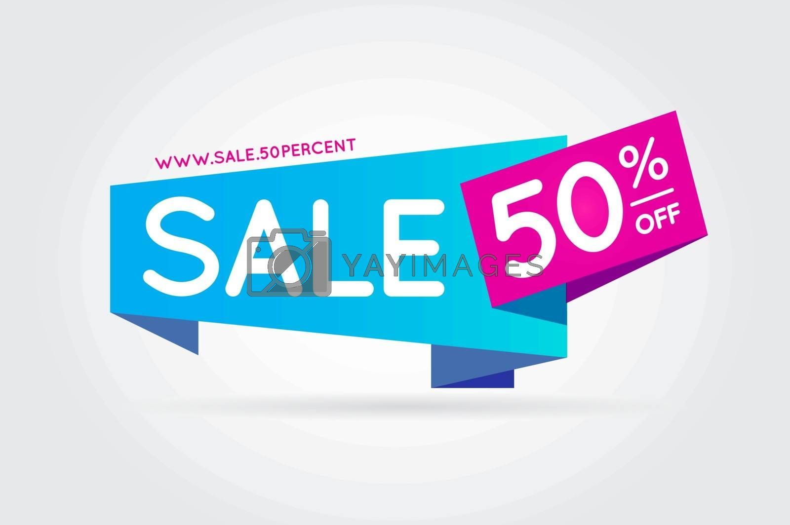 Sale Sign Banner Poster ready for Web and Print. Vector. Super,  by ckybes