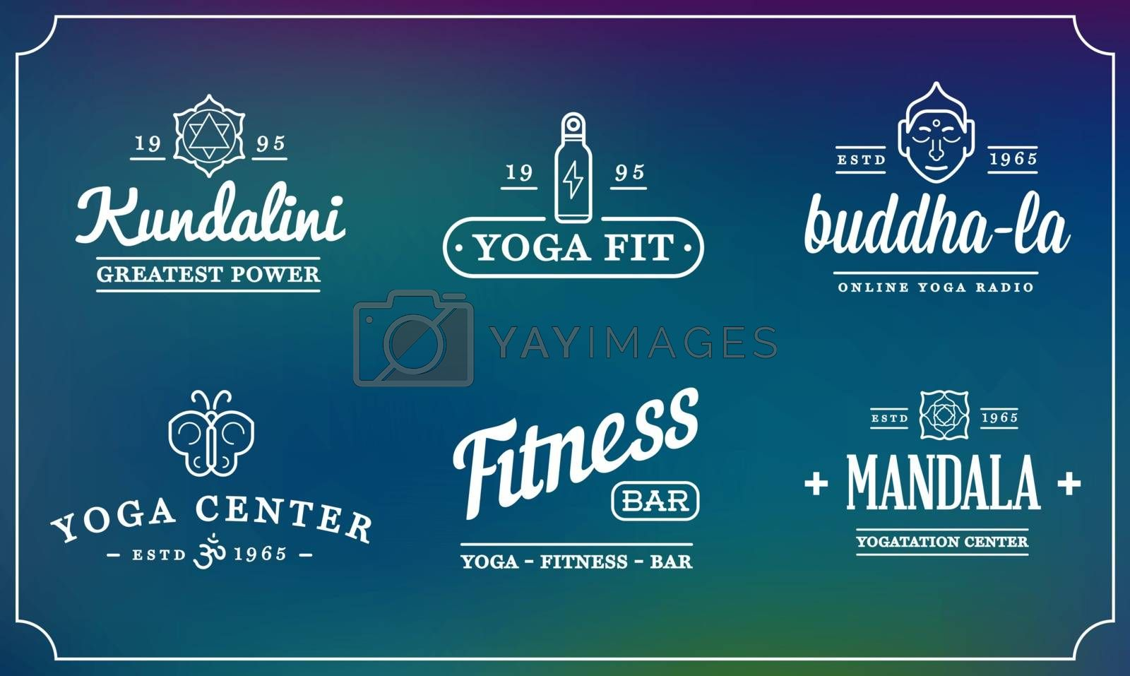 Set of Vector Yoga Zen Sport Elements and Fitness Healthy Illustration can be used as Logo or Icon in premium quality