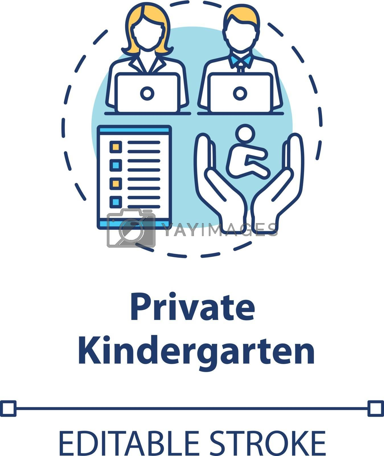 Private kindergarten concept icon by bsd