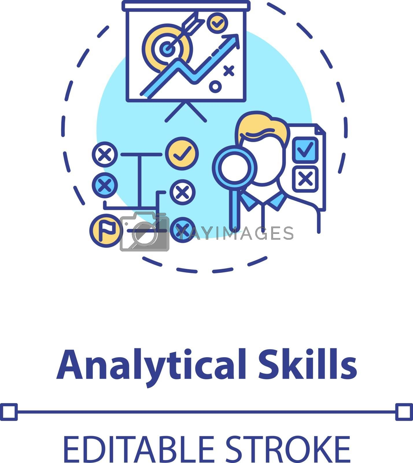 Analytical skill concept icon by bsd