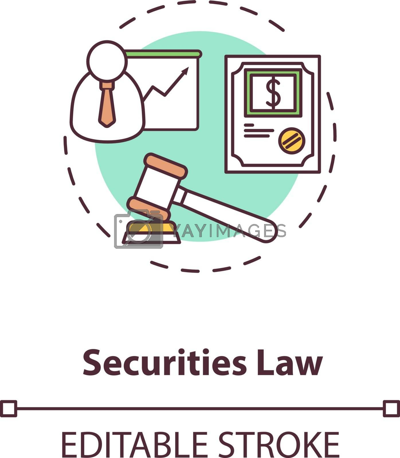 Securities law concept icon by bsd