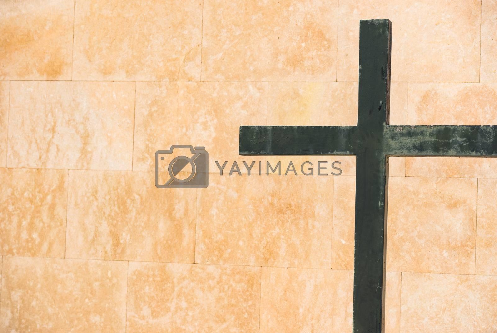 Cross religious background concept