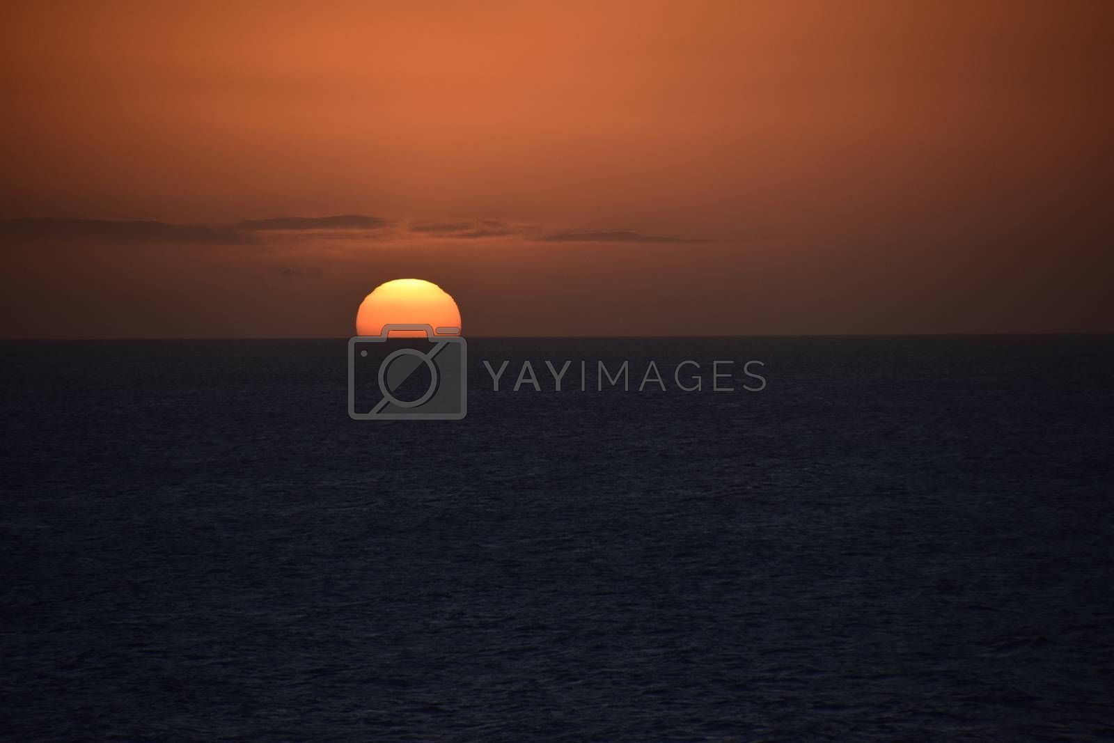 Aruba - December 2014: Aruba sunset