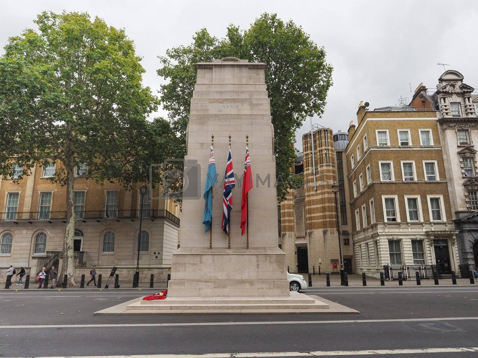 LONDON, UK - CIRCA SEPTEMBER 2019: Cenotaph war memorial to commemorate the deads of all wars