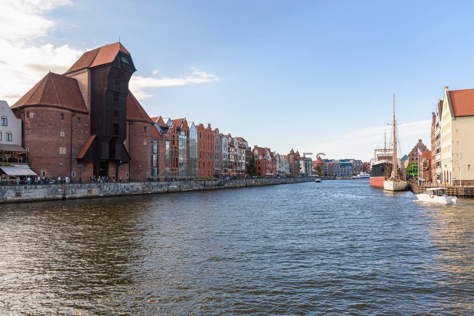 Royalty free image of View of New Motlawa river in Gdansk downtown by mkos83