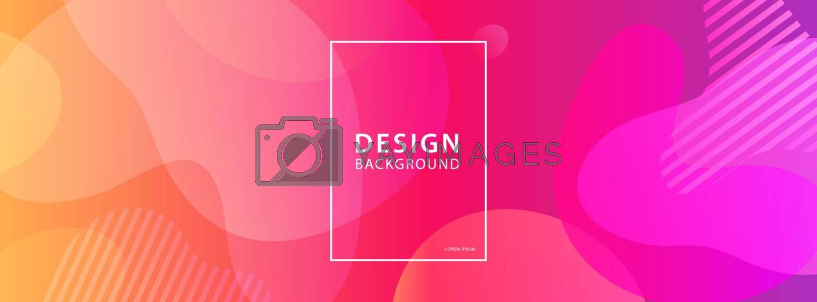 Fluid shape banner design background. Liquid geometric gradient template.