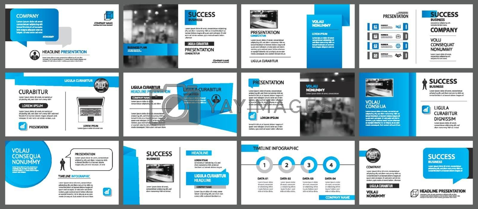 Presentation and slide layout template. Design blue gradient in paper shape background. Use for business annual report, flyer, marketing, leaflet, advertising, brochure, modern style.