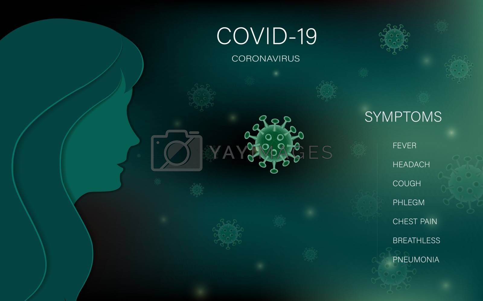 Covid-19 coronavirus outbreaking and pandemic medical health risk concept,vector illustration