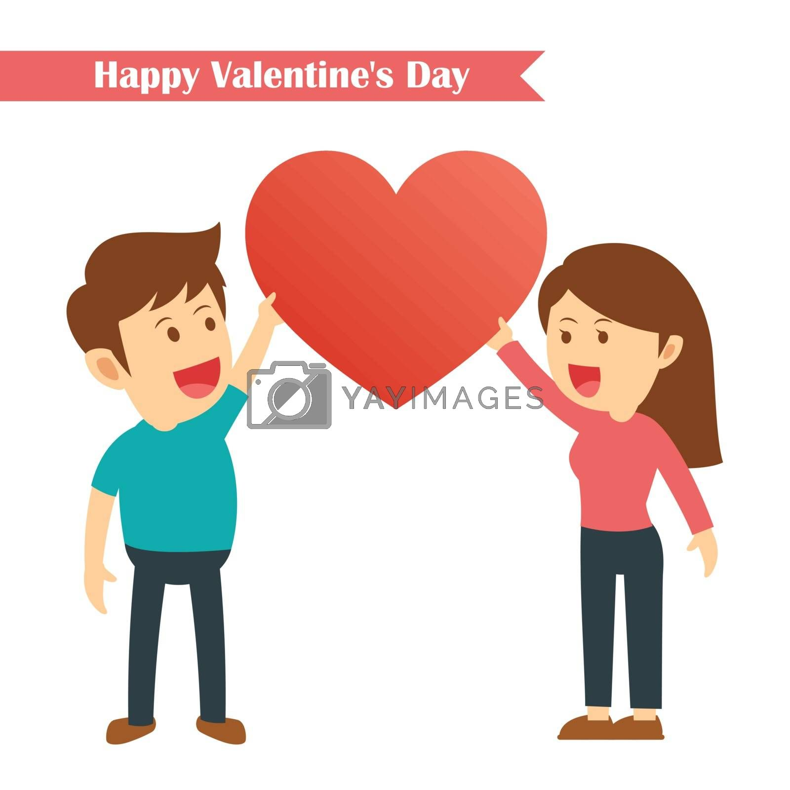 characters couples happy valentines day isolated on white background.