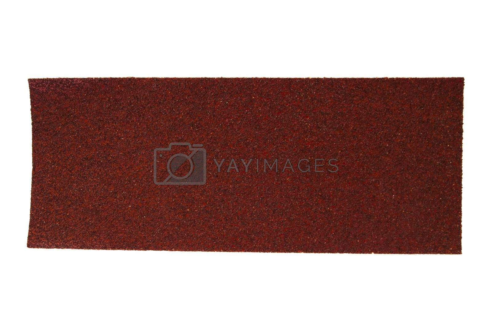 rectangular sandpaper isolated on white background