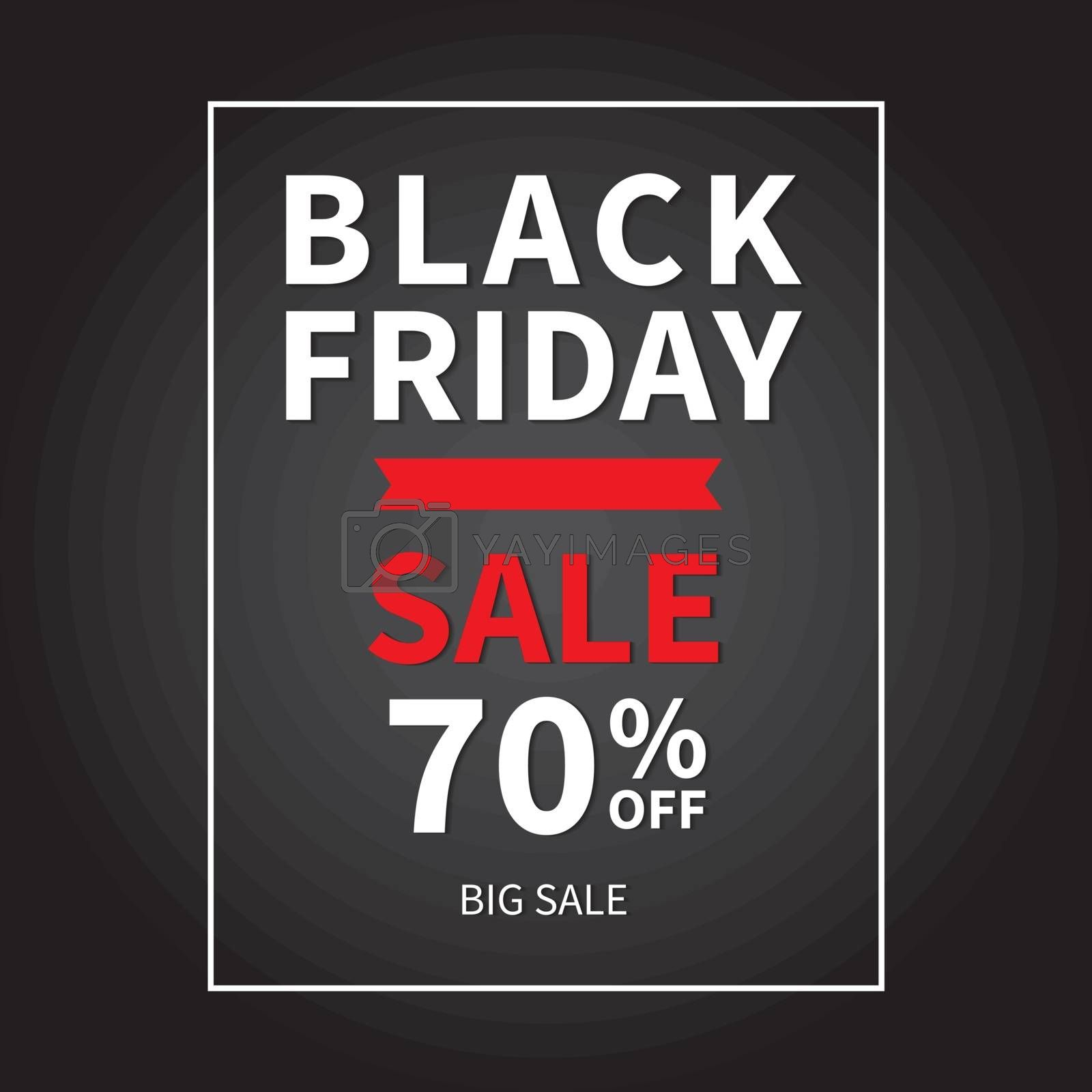 Black friday sale banner design template background.