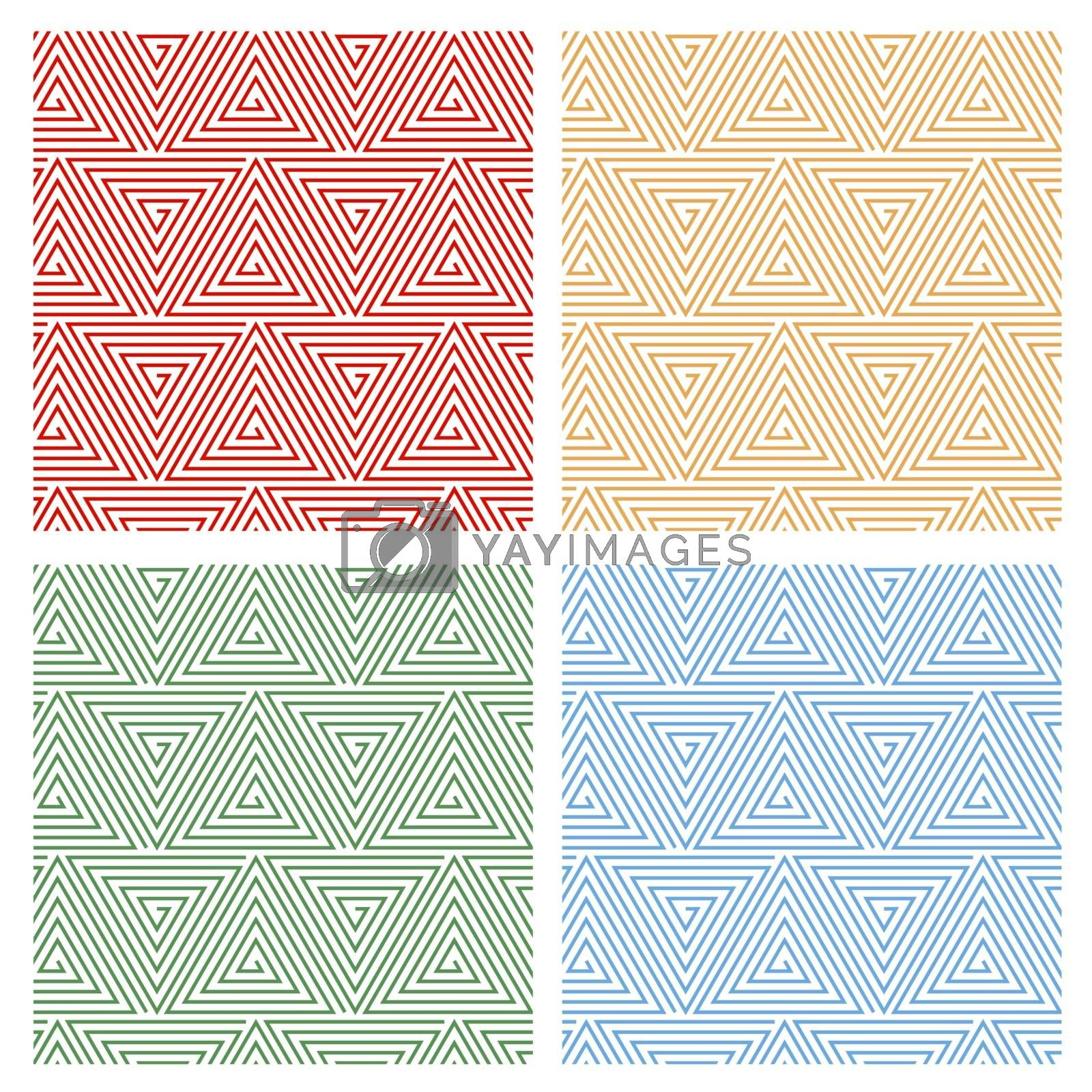 Multicolored Hypnotic Background Seamless Pattern. by yganko