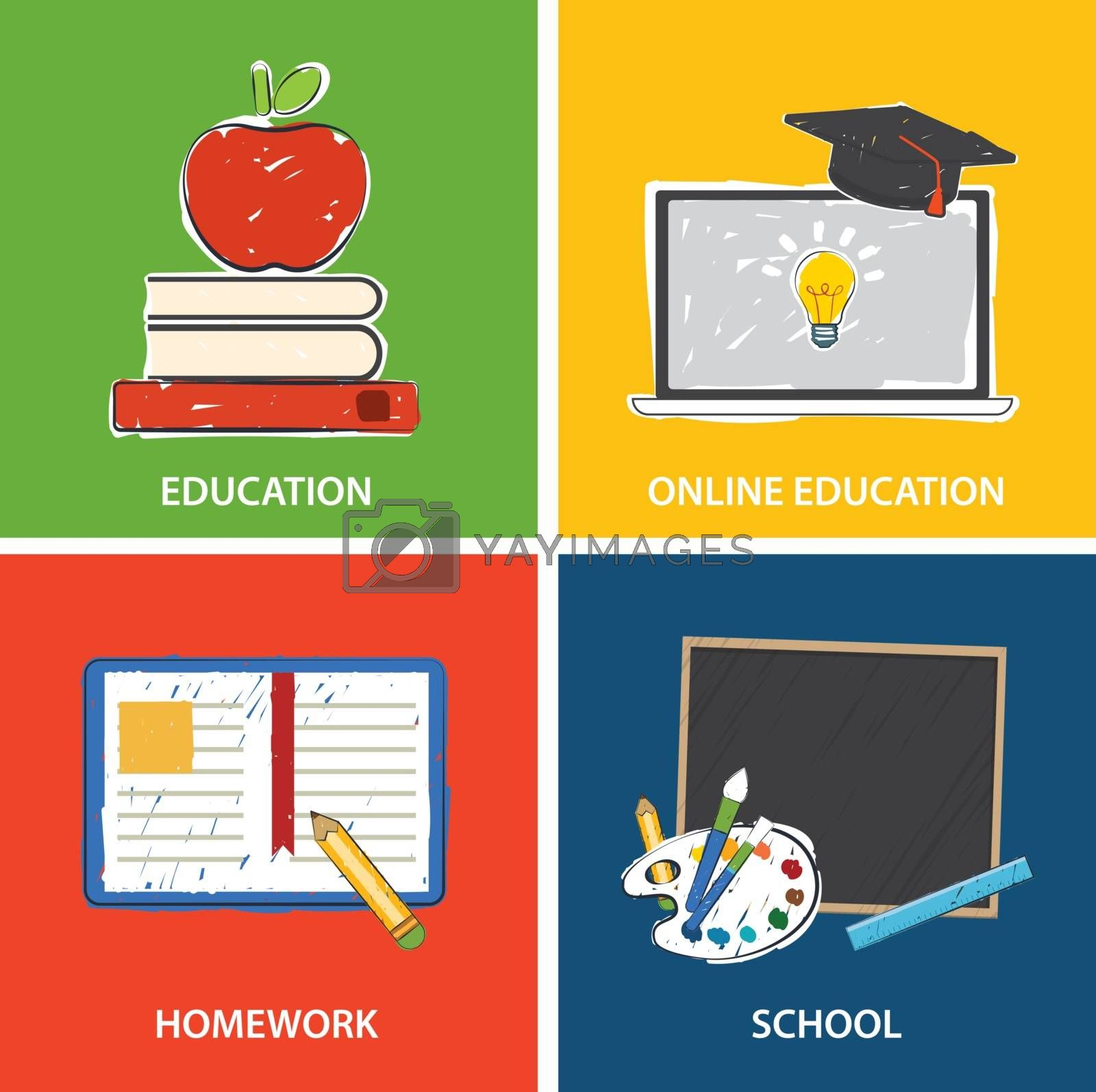 education banner and back to school background template