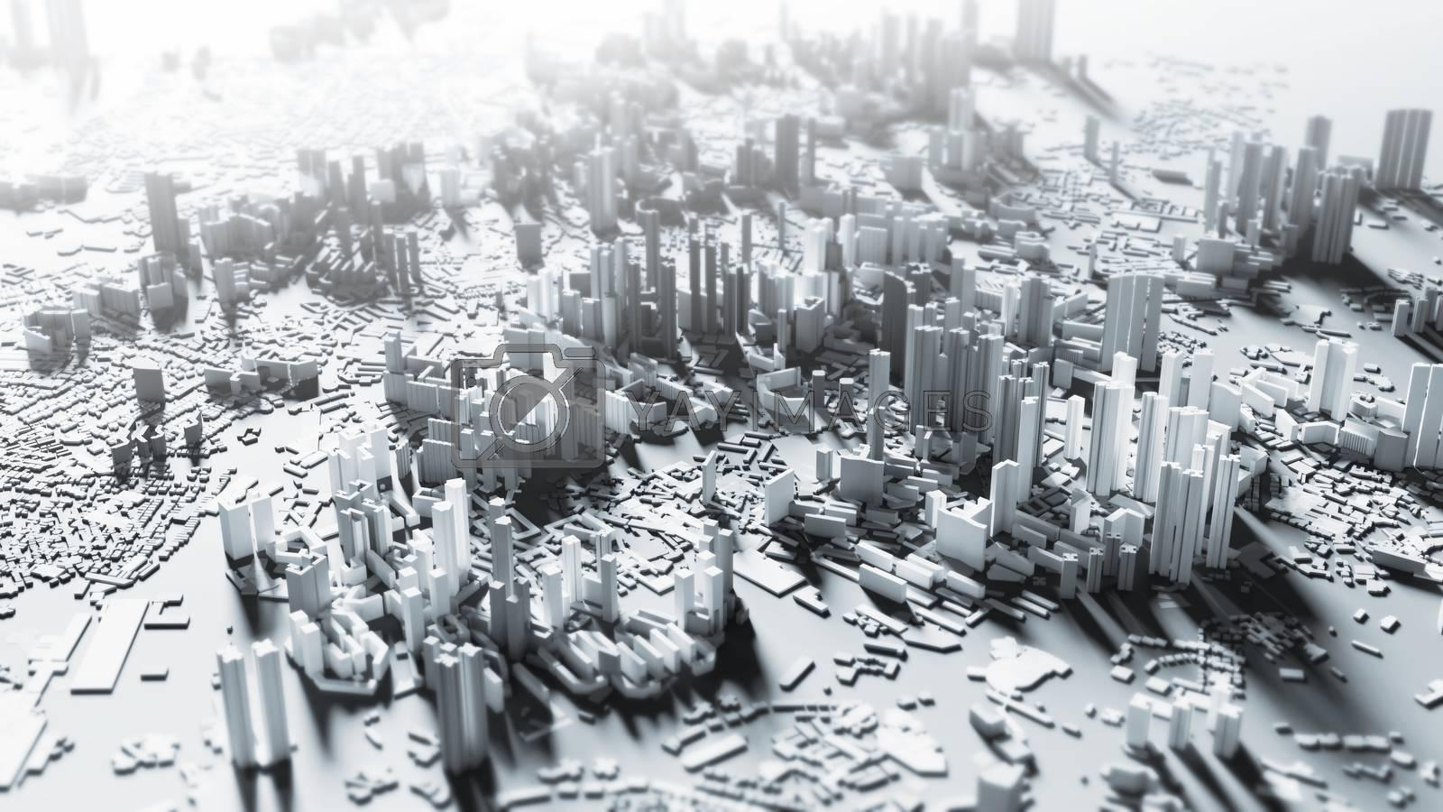 Smart city design background 3d render