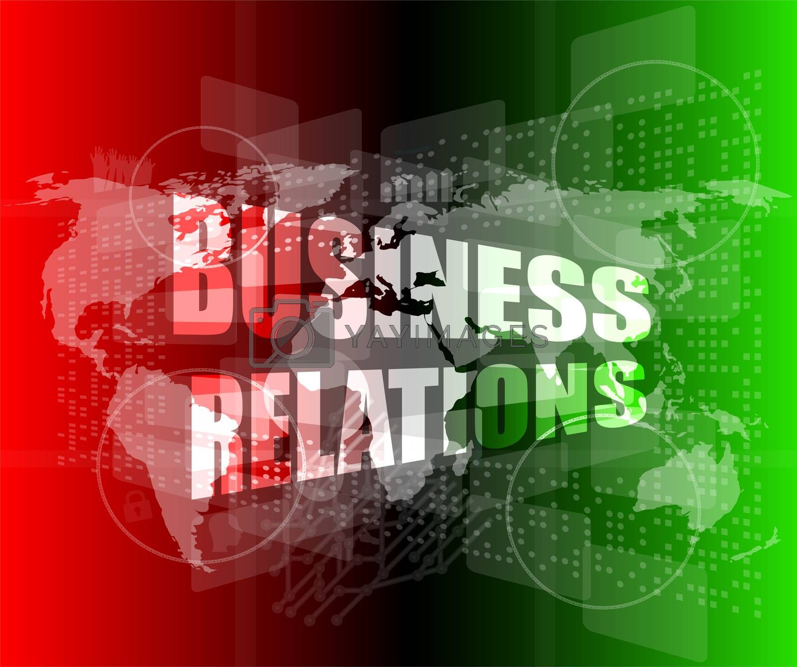 business relations interface hi technology, touch screen