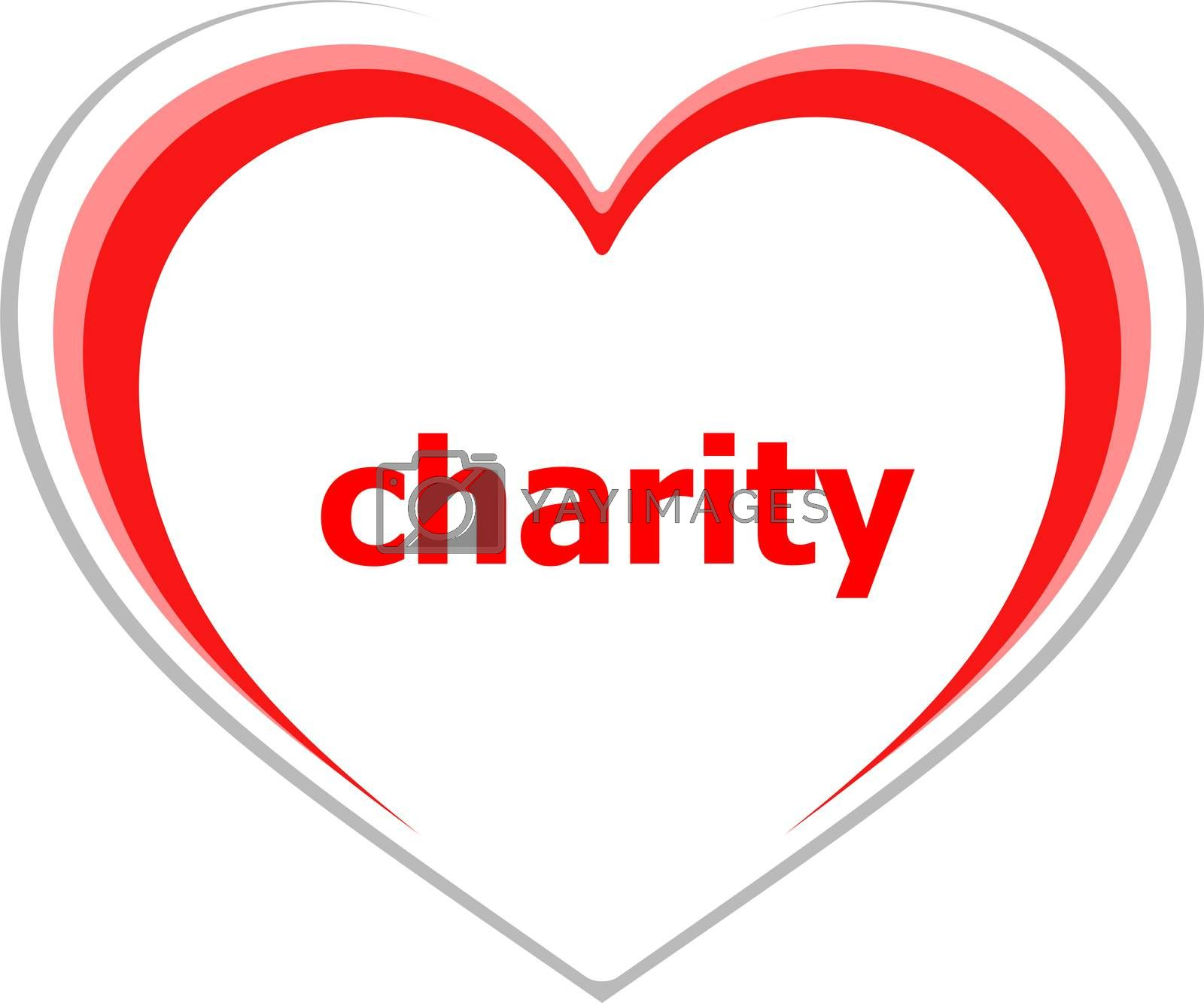 Text Charity. Social concept