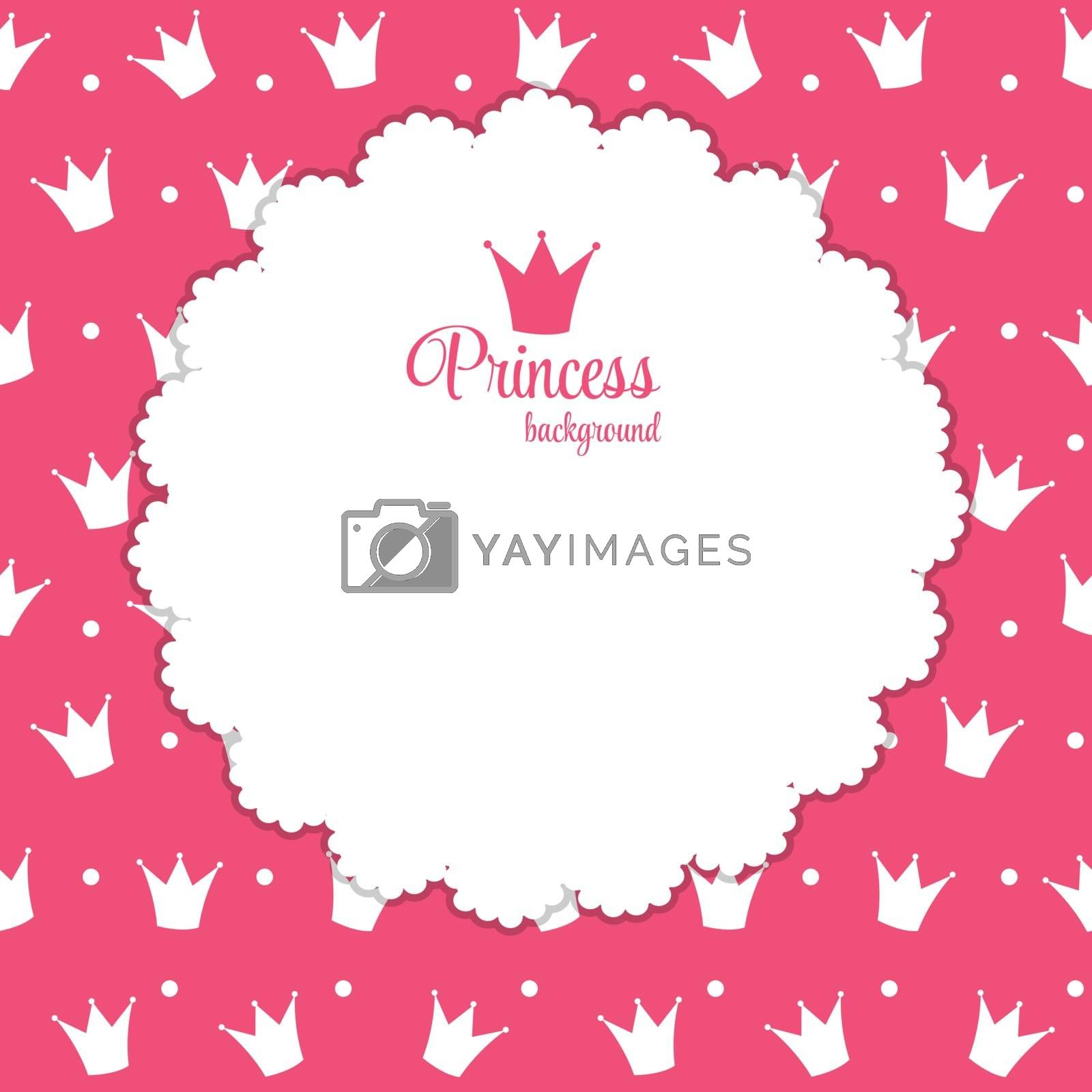 Princess Crown  Background Vector Illustration. by yganko