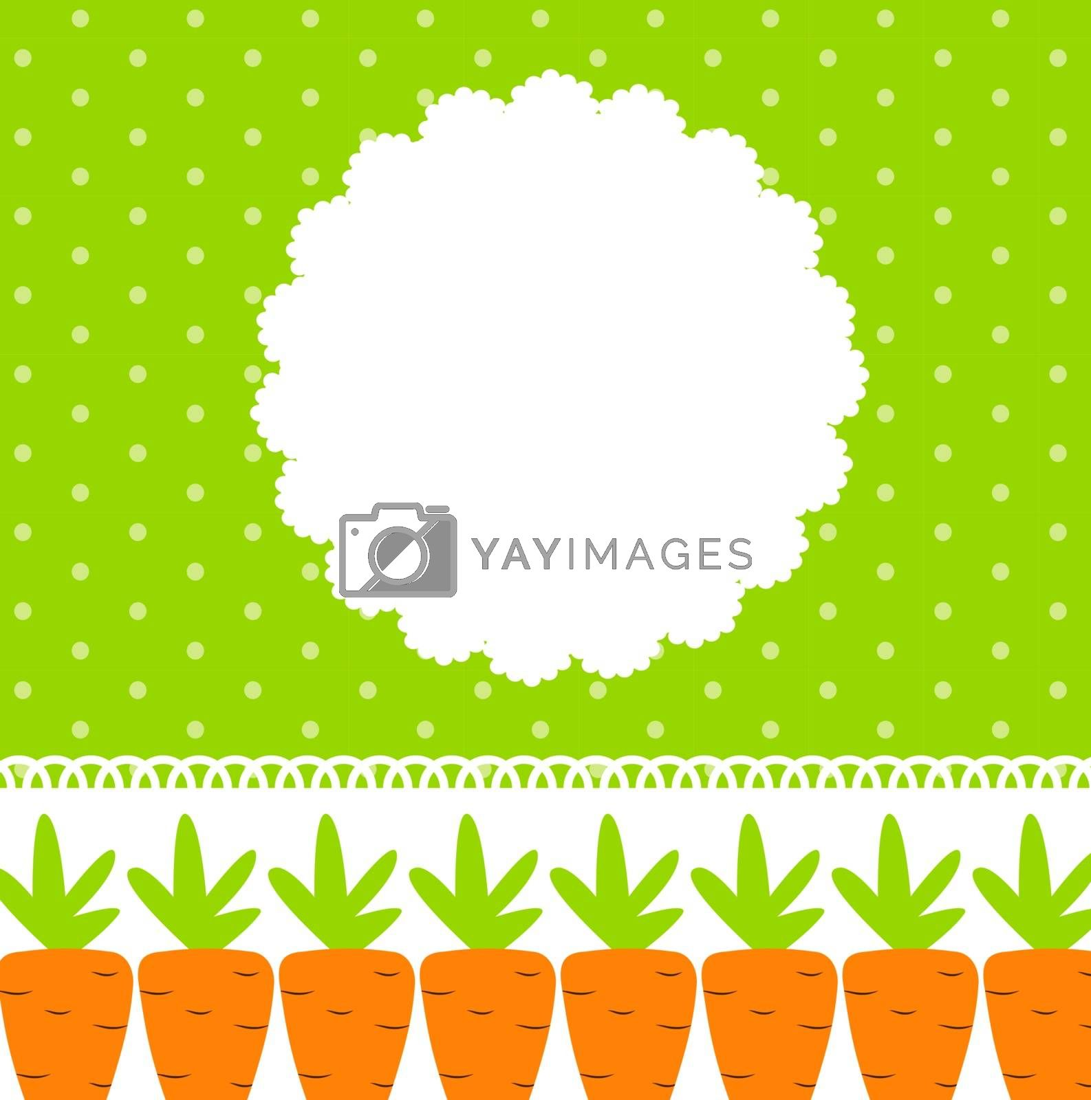 Carrot Cute Frame Vector Illustration